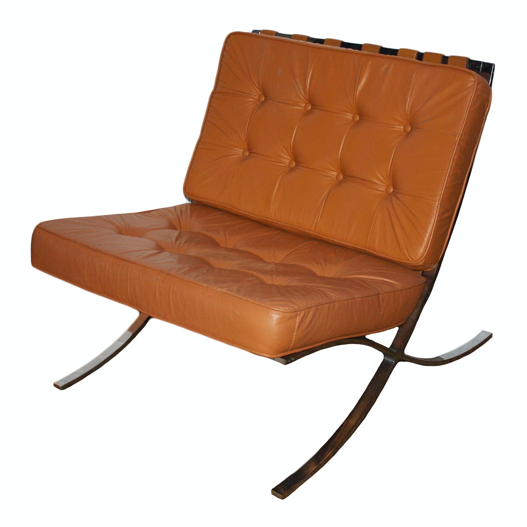 Mid Century Modern Barcelona Style Chair