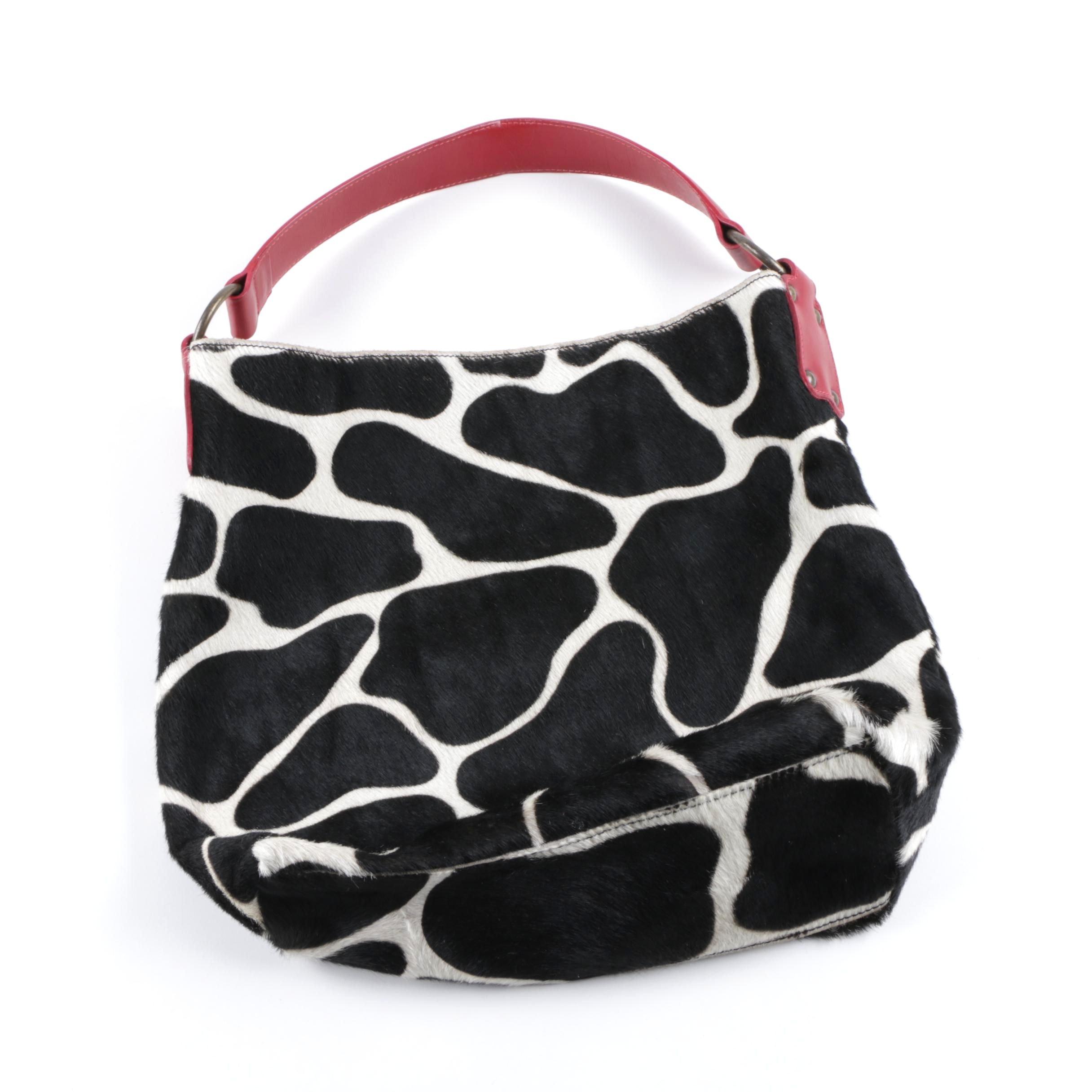 Maurizio Taiuti Dyed Calf Hair Handbag