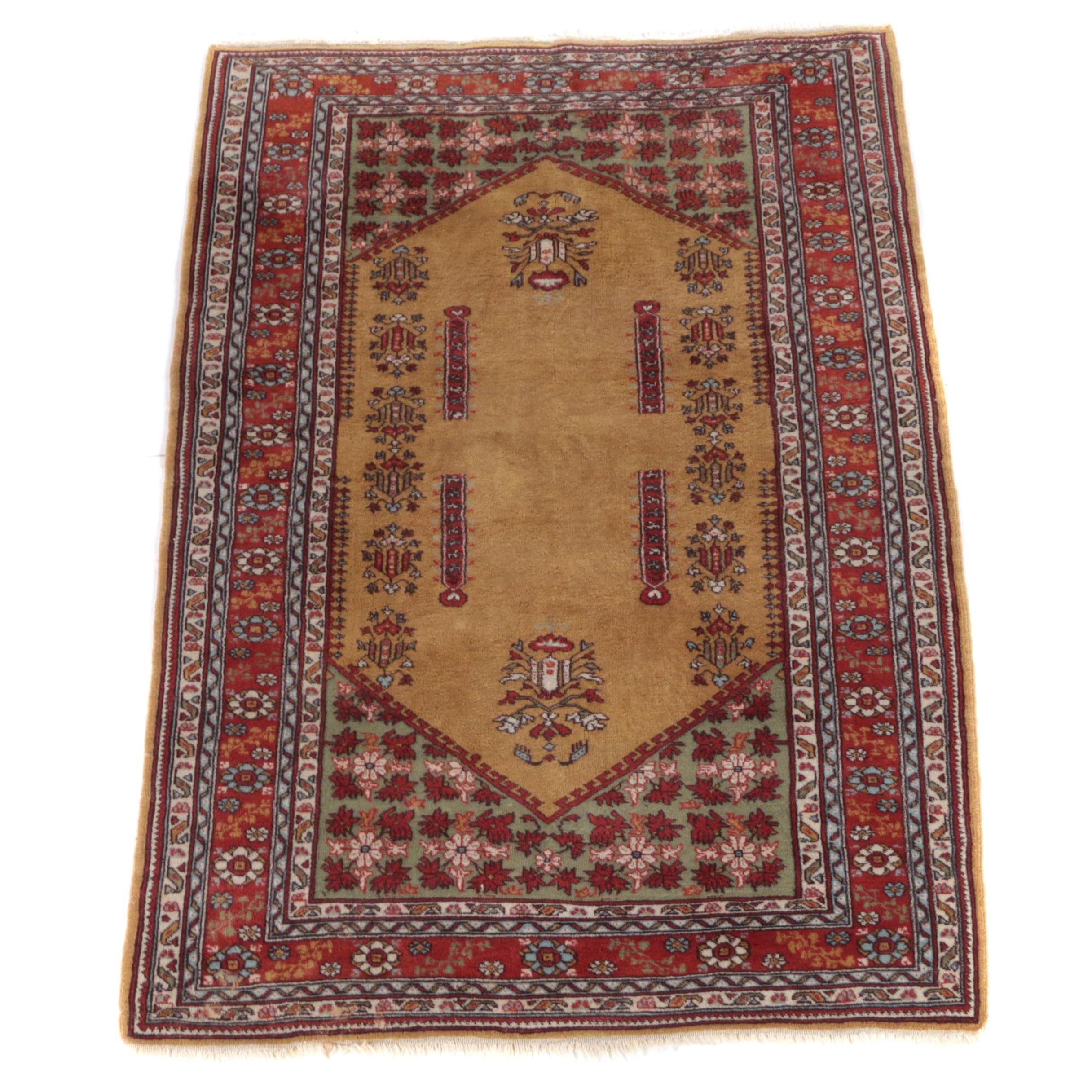 "Vintage Hand-Knotted Pakistani Baluch ""Guldan"" Area Rug"