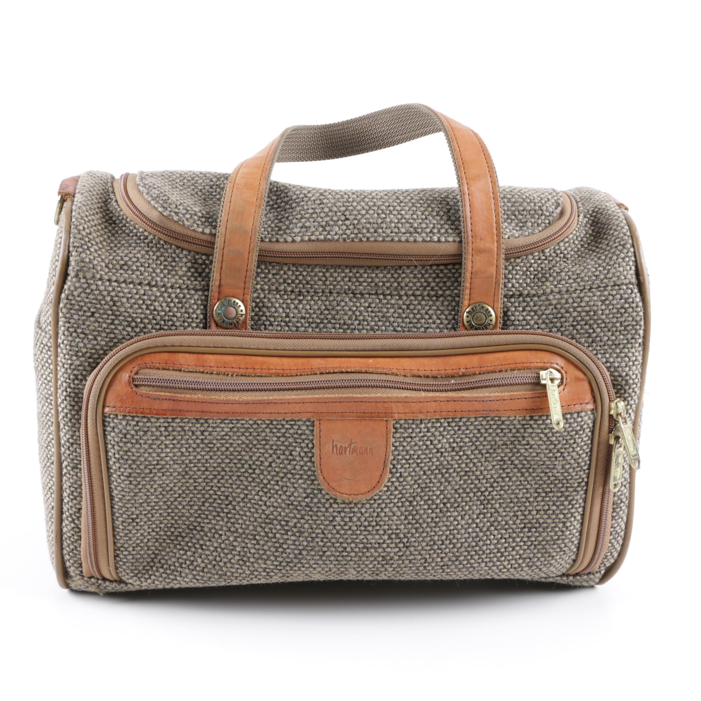Hartmann Vintage Fabric and Leather Duffel Bag