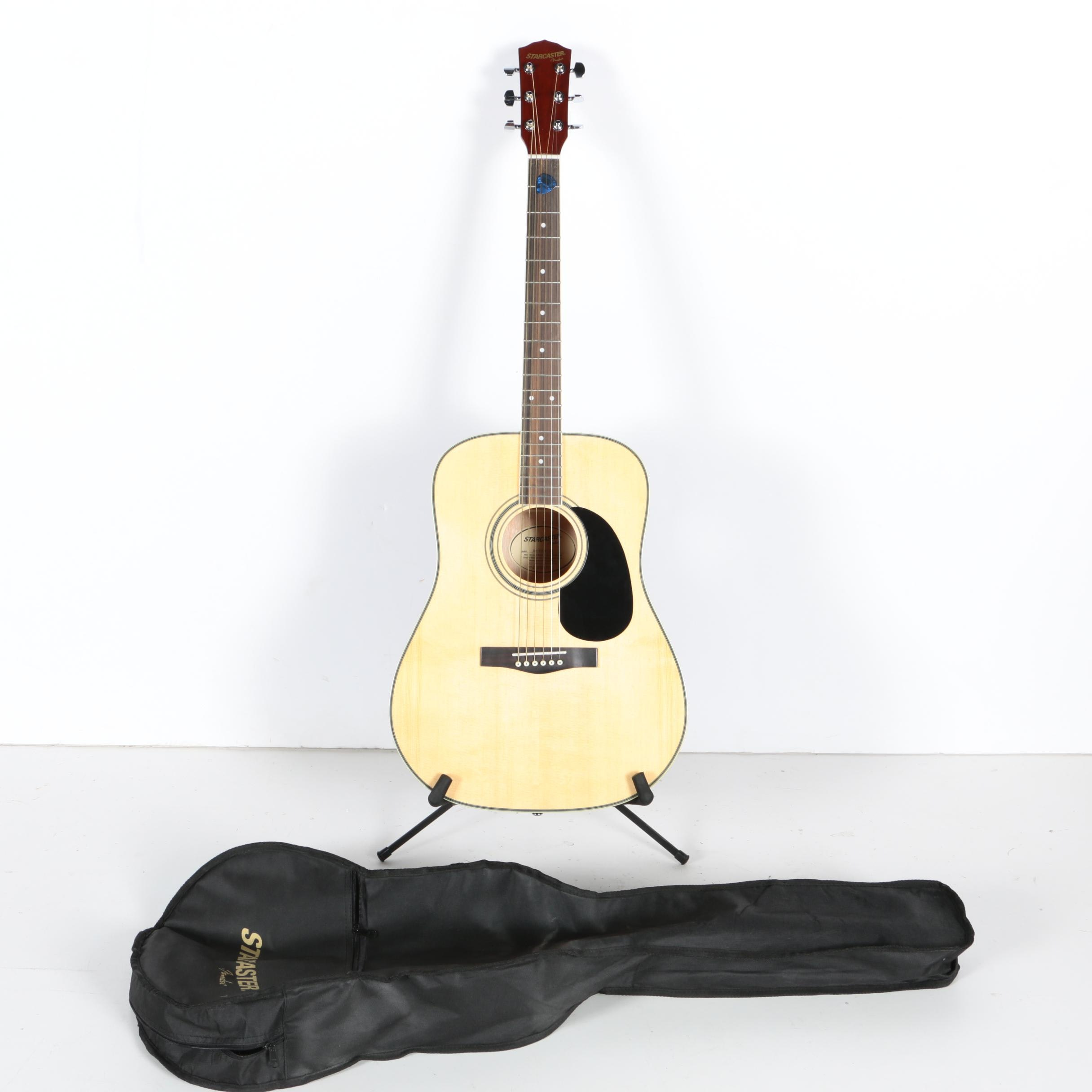 Fender Starcaster Acoustic Guitar with Gig Bag, Stand, and Accessories