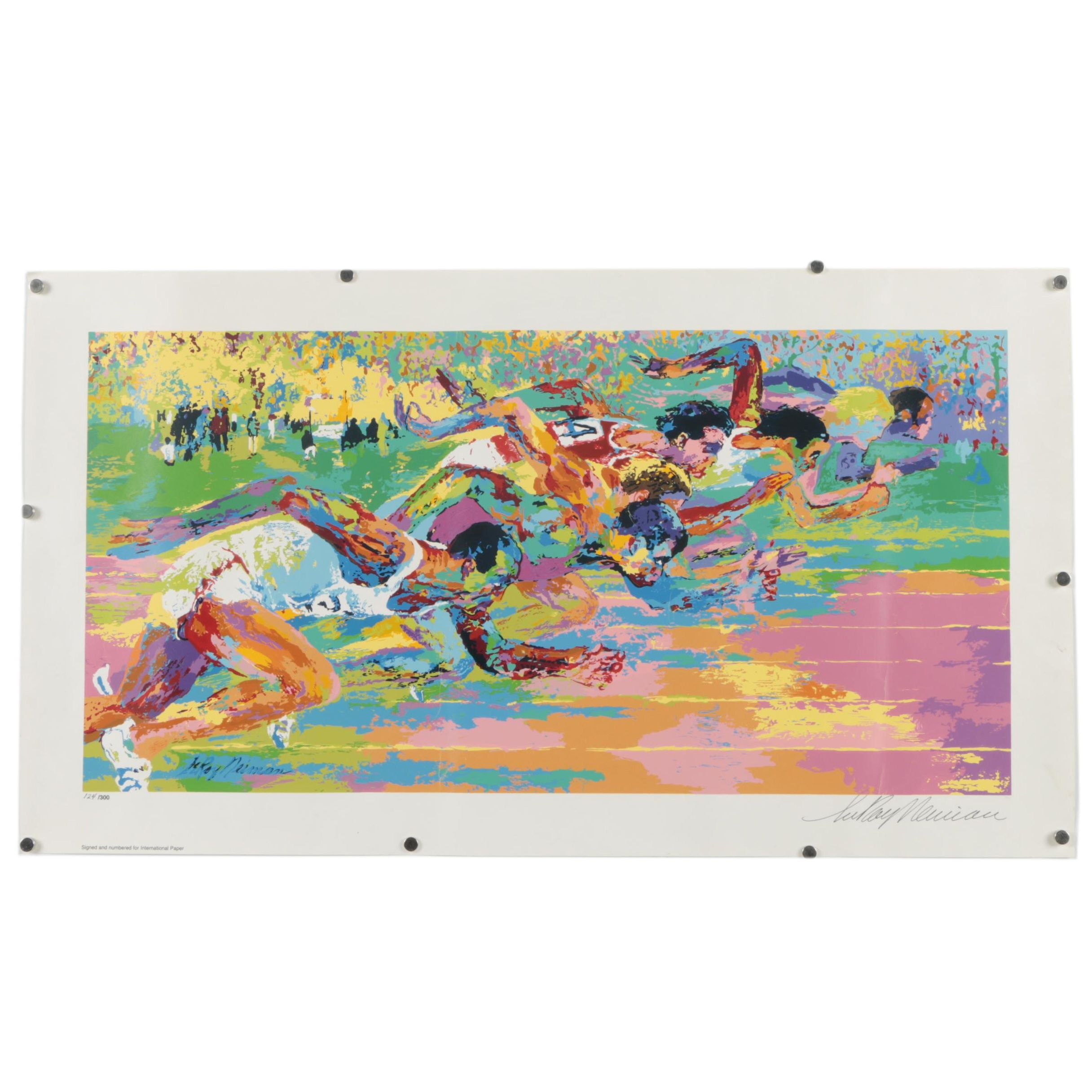 "LeRoy Neiman Serigraph ""Olympic Track"""