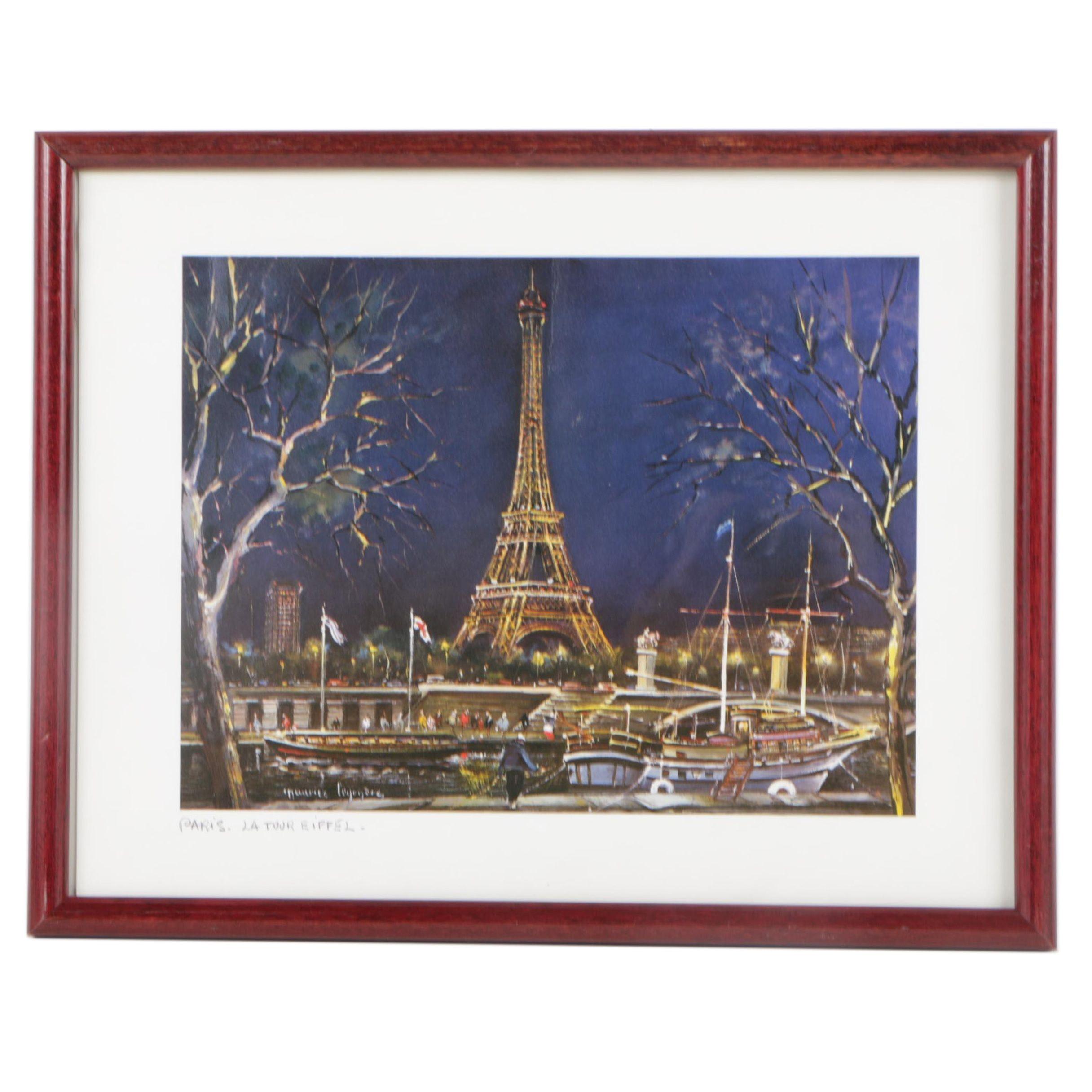 Offset Lithograph of Paris, La Tour Eiffel
