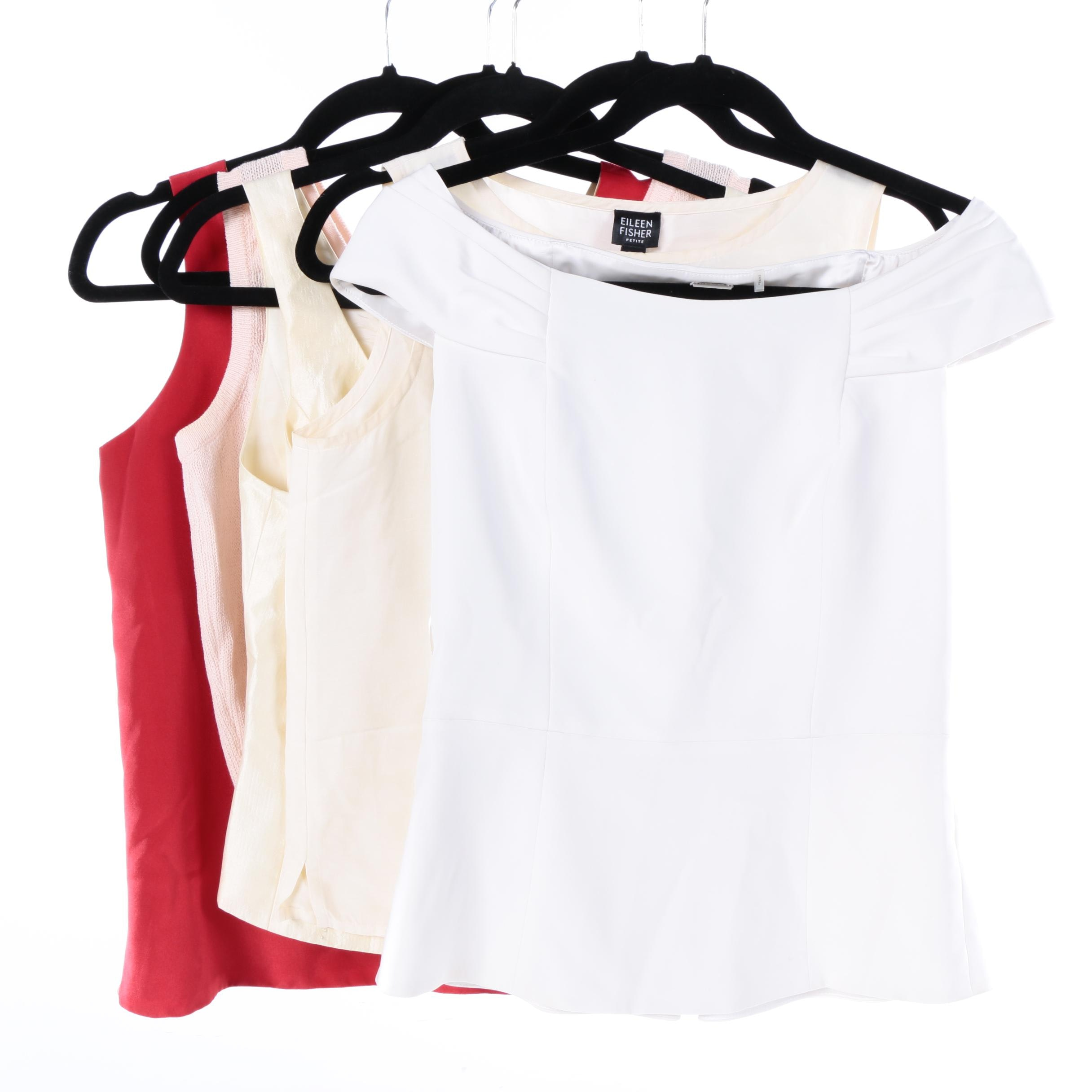 Women's Sleeveless Tops Including Elie Tahari and Eileen Fisher