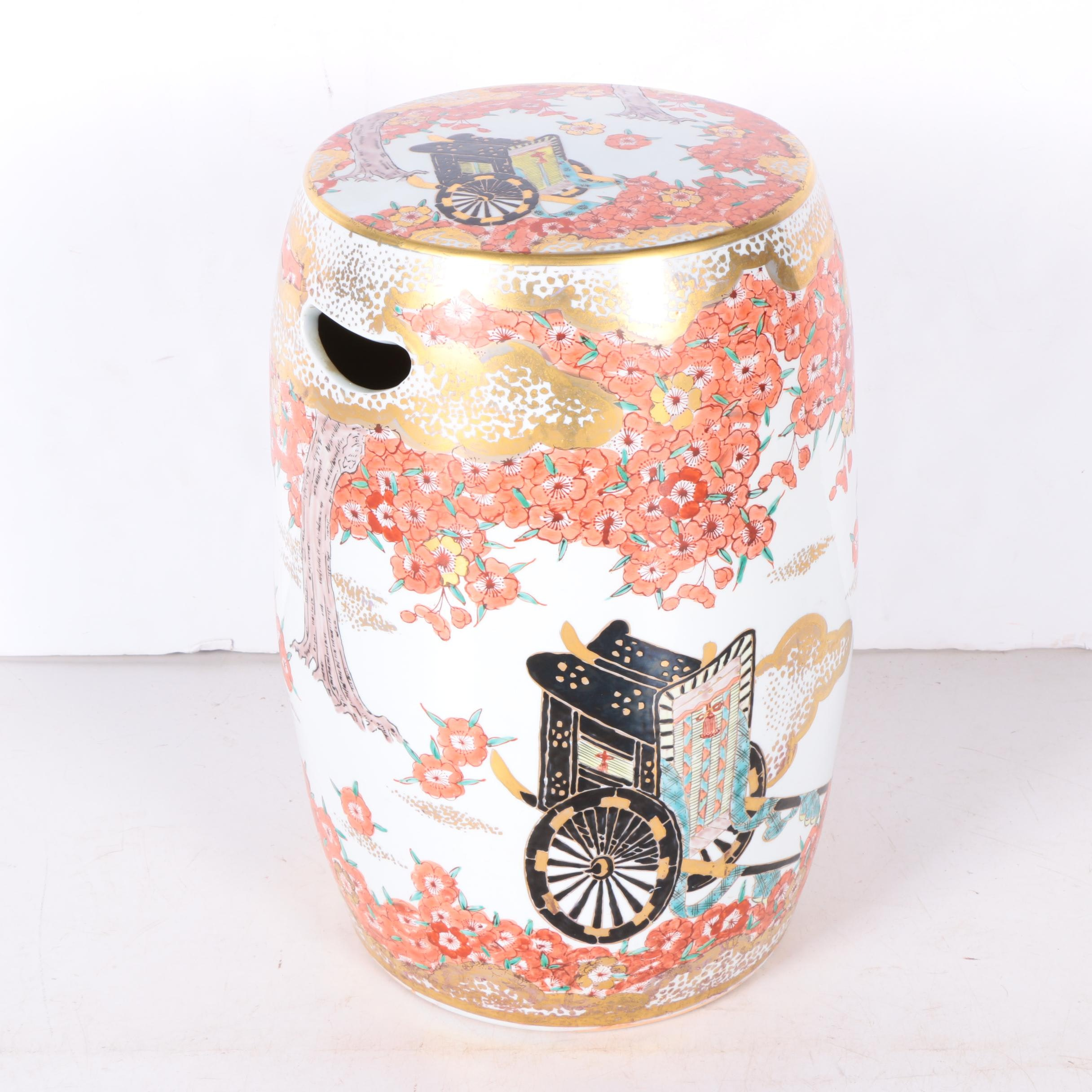 Hand Painted Japanese Garden Seat