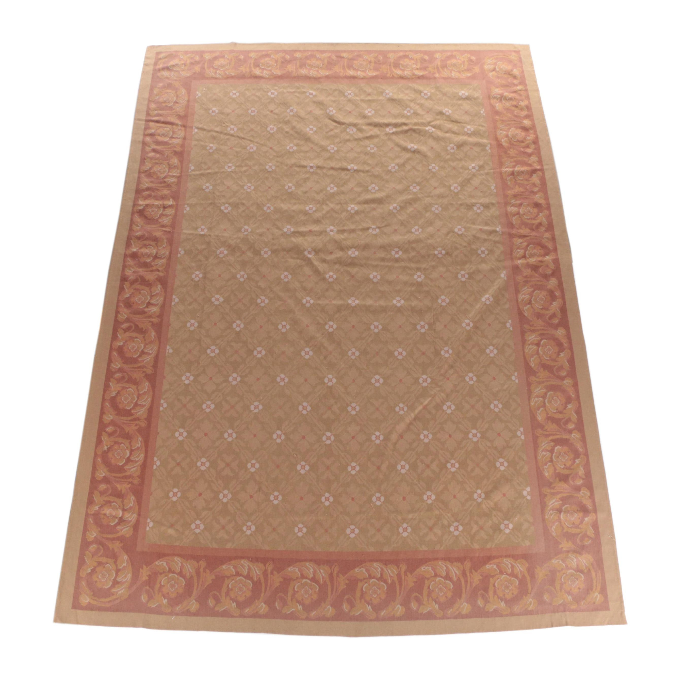 Flatweave Transitional Wool Area Rug