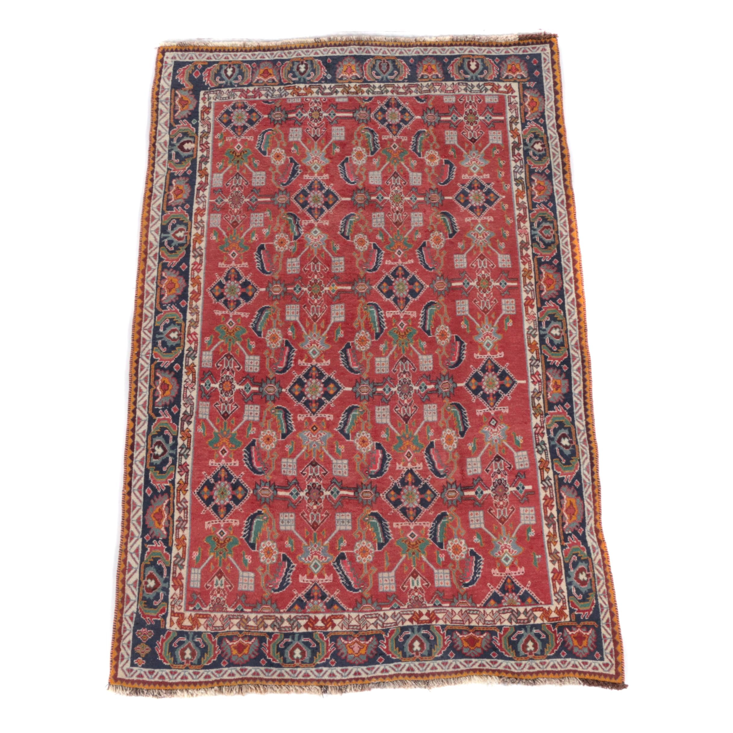Hand-Knotted Persian Luri Tribal Area Rug