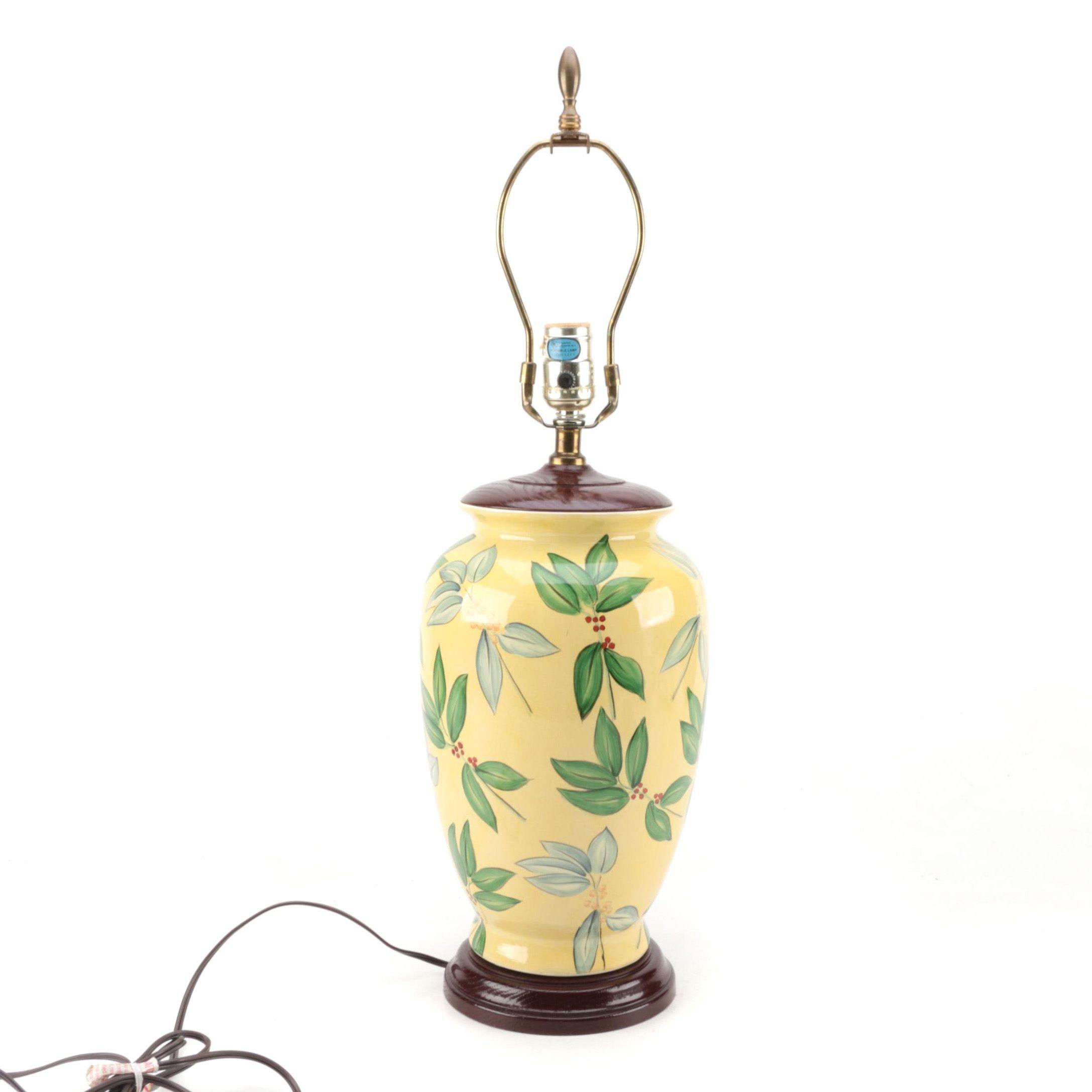Ceramic Yellow Accent Lamp