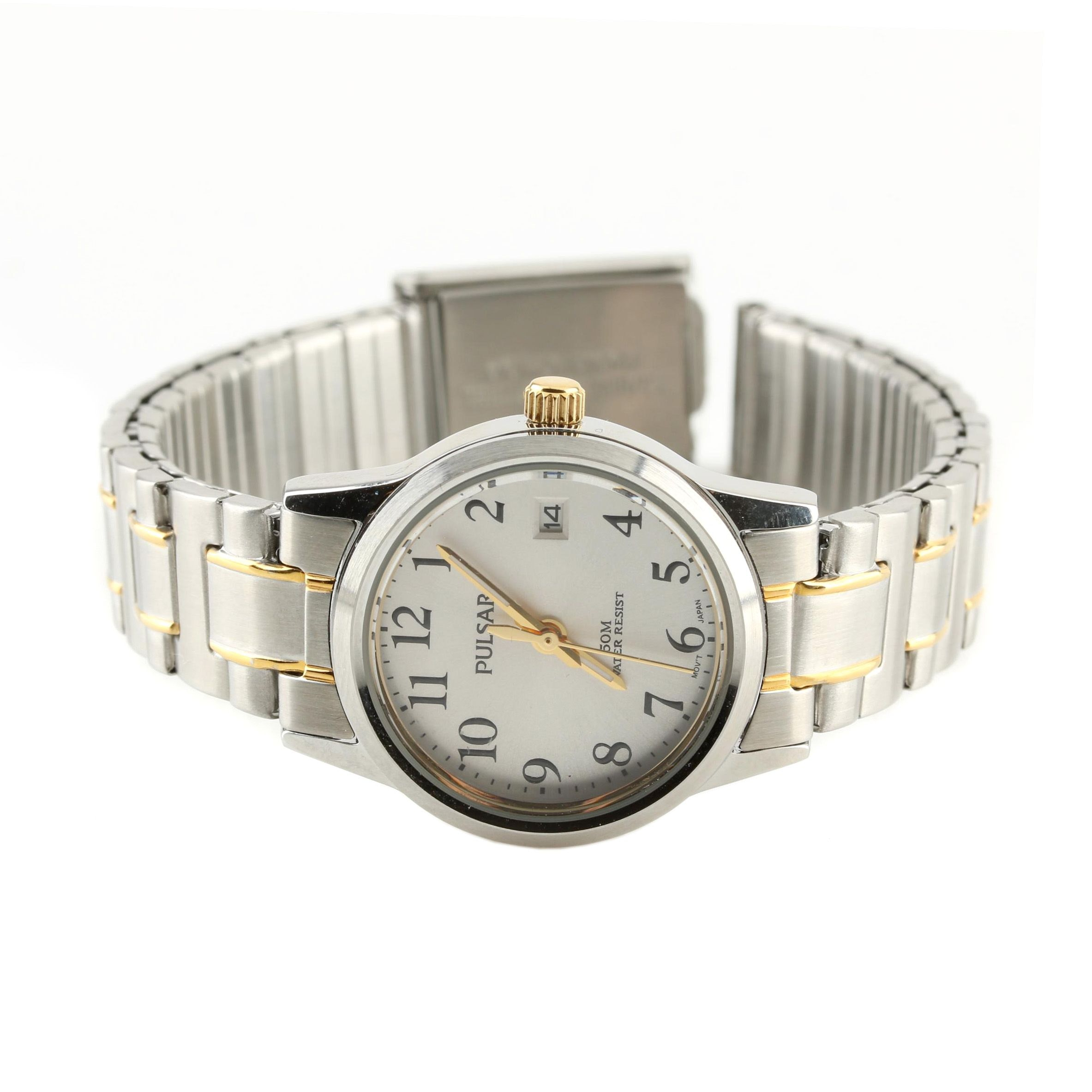 Pulsar Stainless Steel and Base Metal Water Resistant Wristwatch