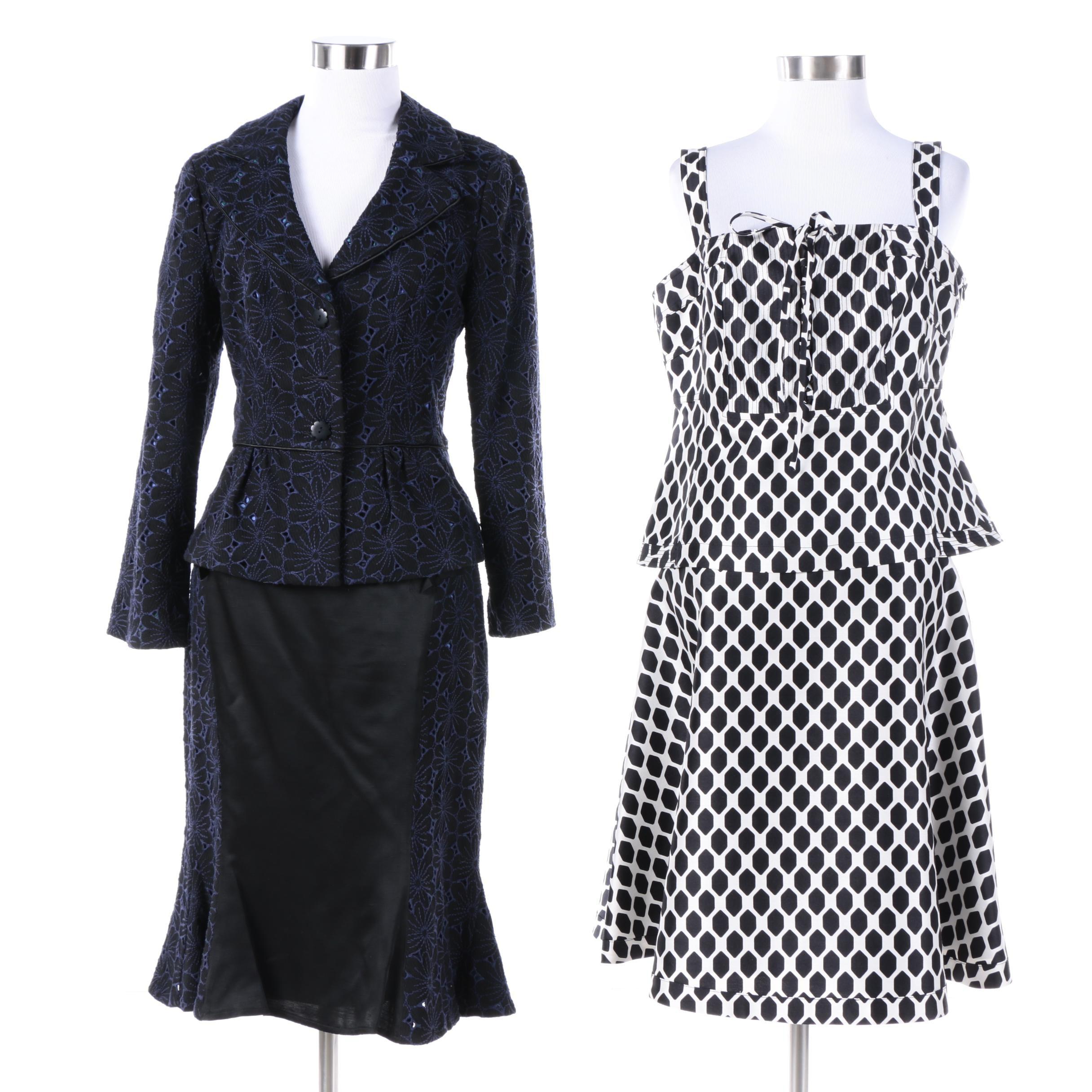 Nanette Lepore Skirt Suit and Diane von Furstenberg Skirt Set