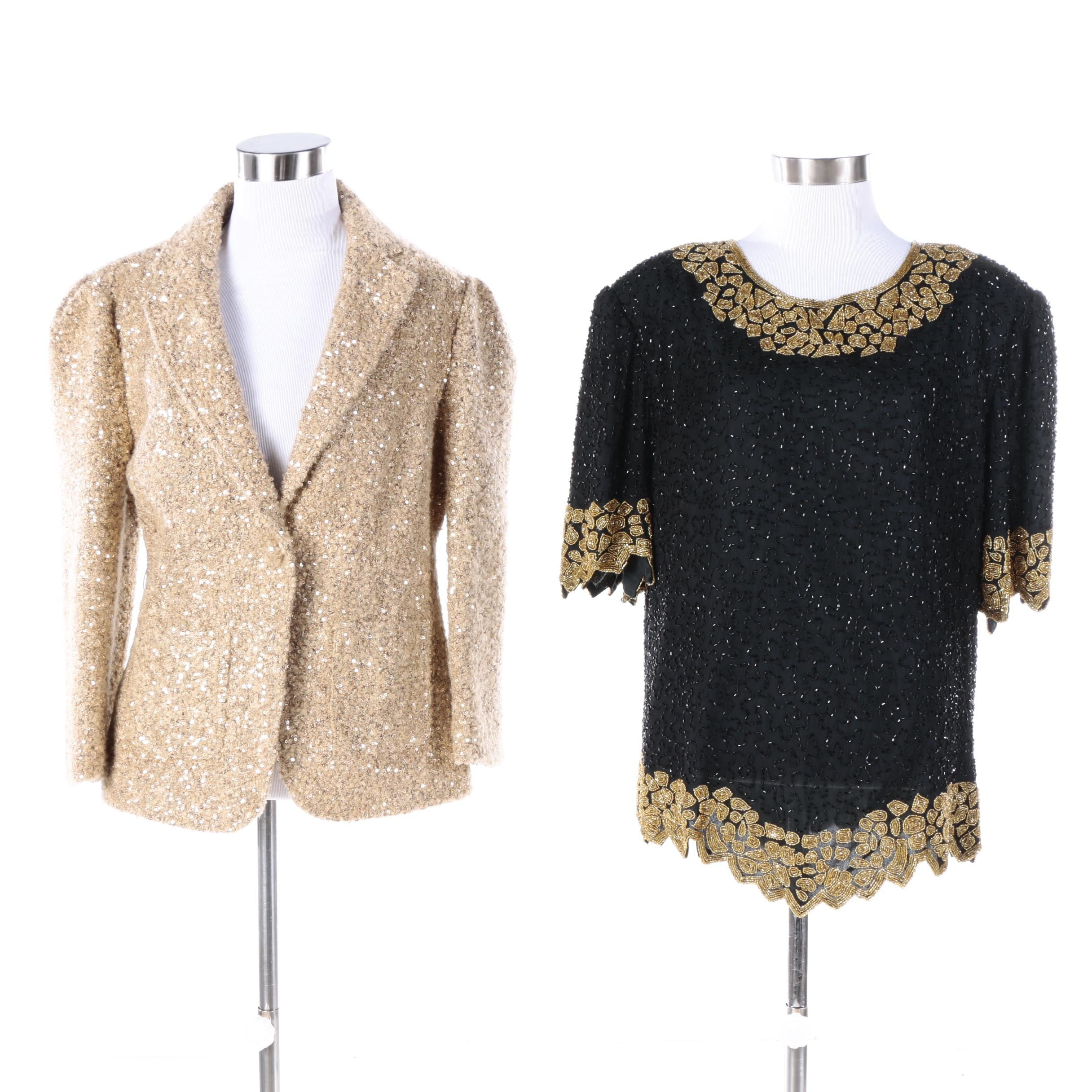 Embellished Jacket and Top Including Laurence Kazar