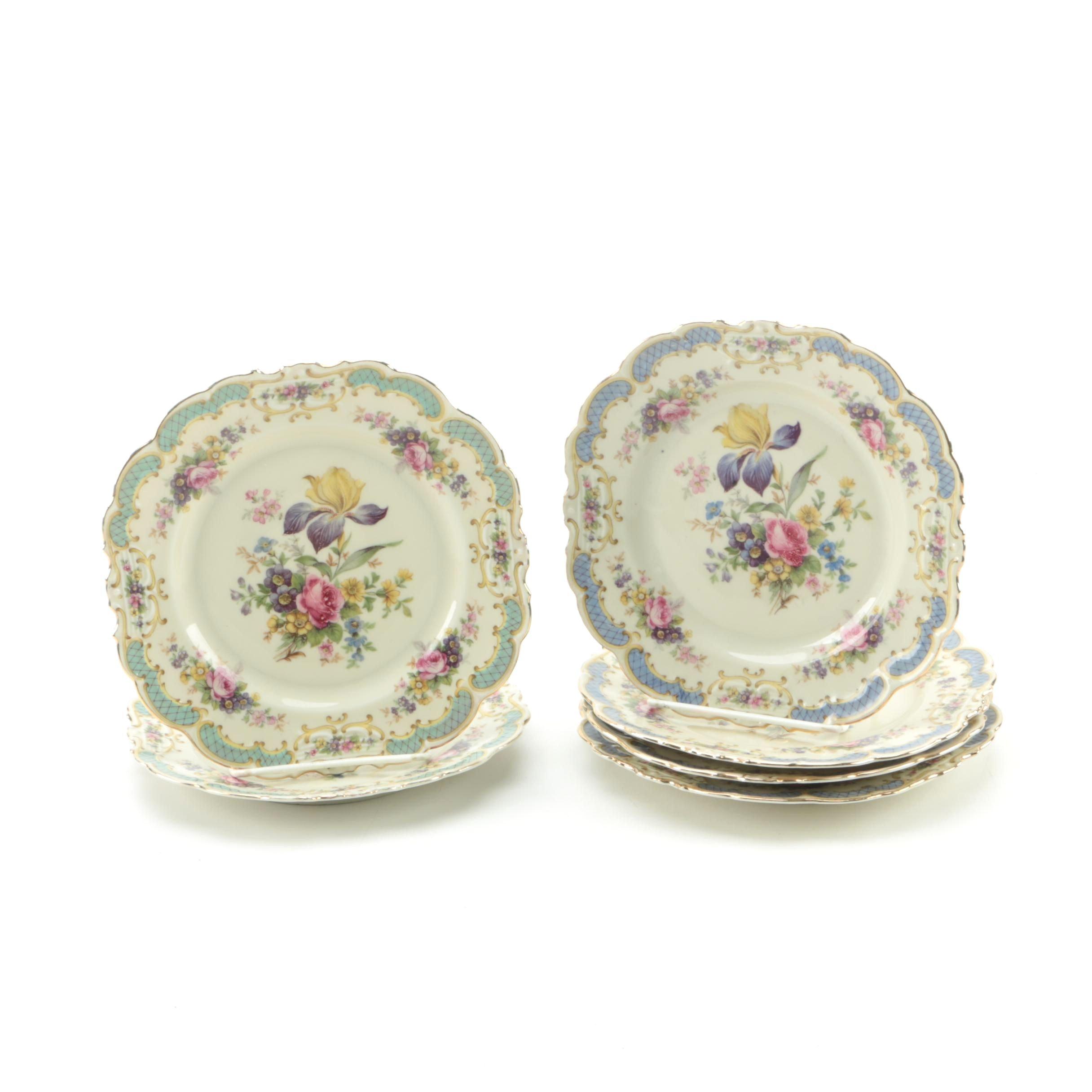 1945-49 Schwarzenhammer Porcelain Bread Plates