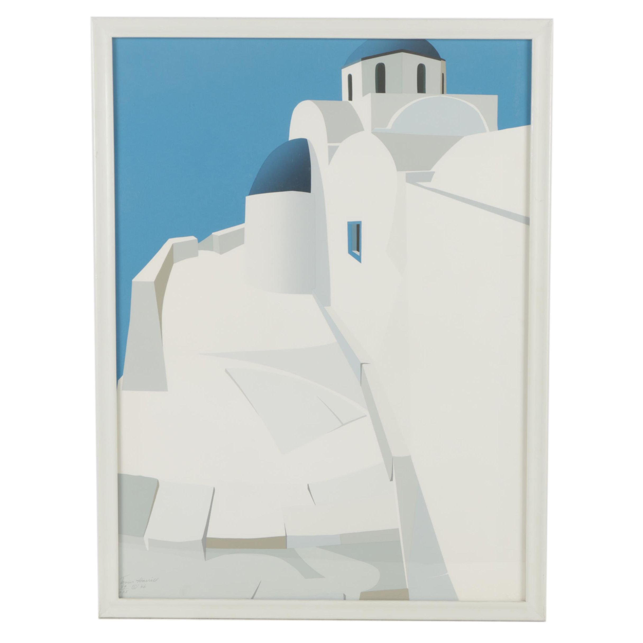 "James Harrill Limited Edition Serigraph ""Monastery Near Salonika"""
