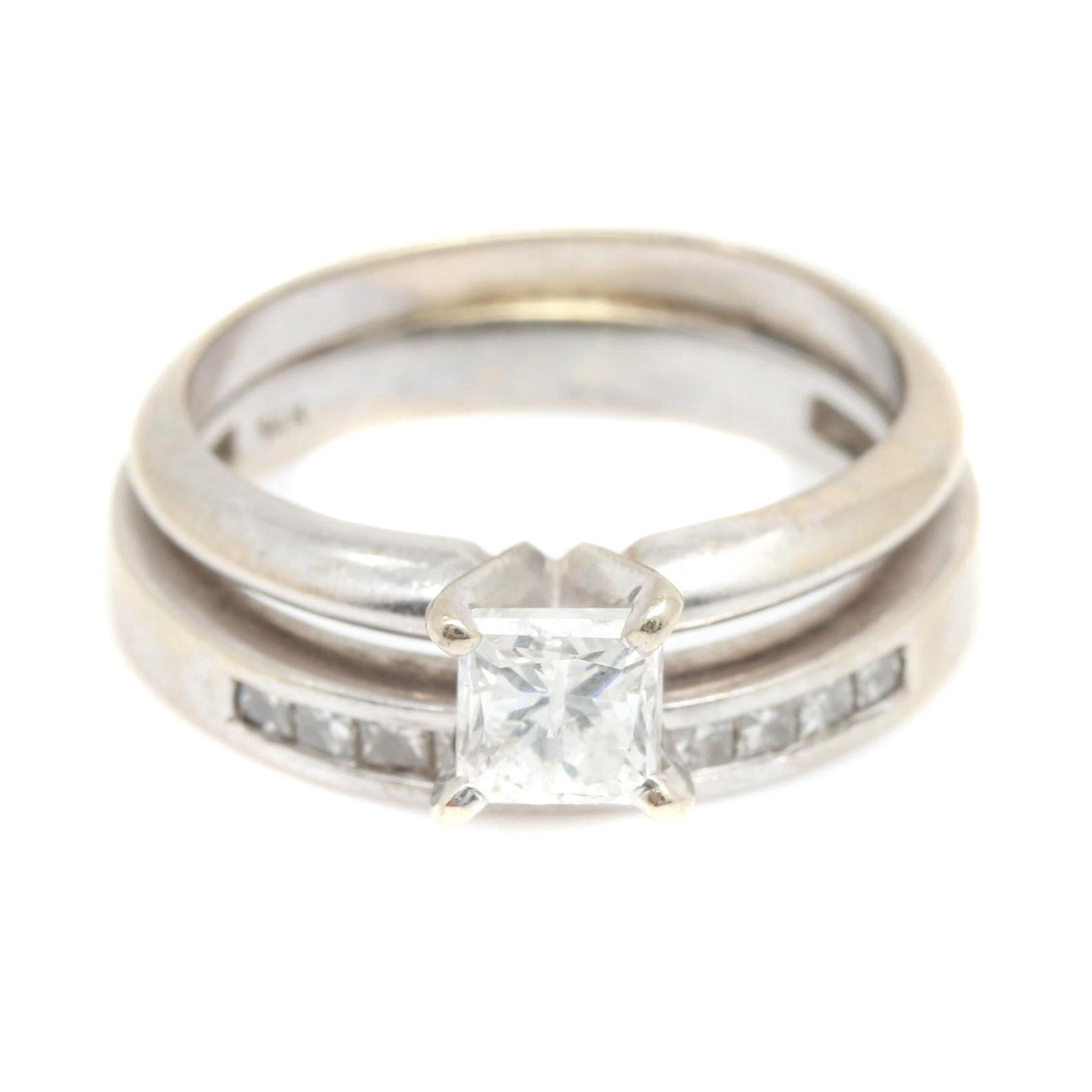 14K White Gold 0.99 CTW Diamond Ring