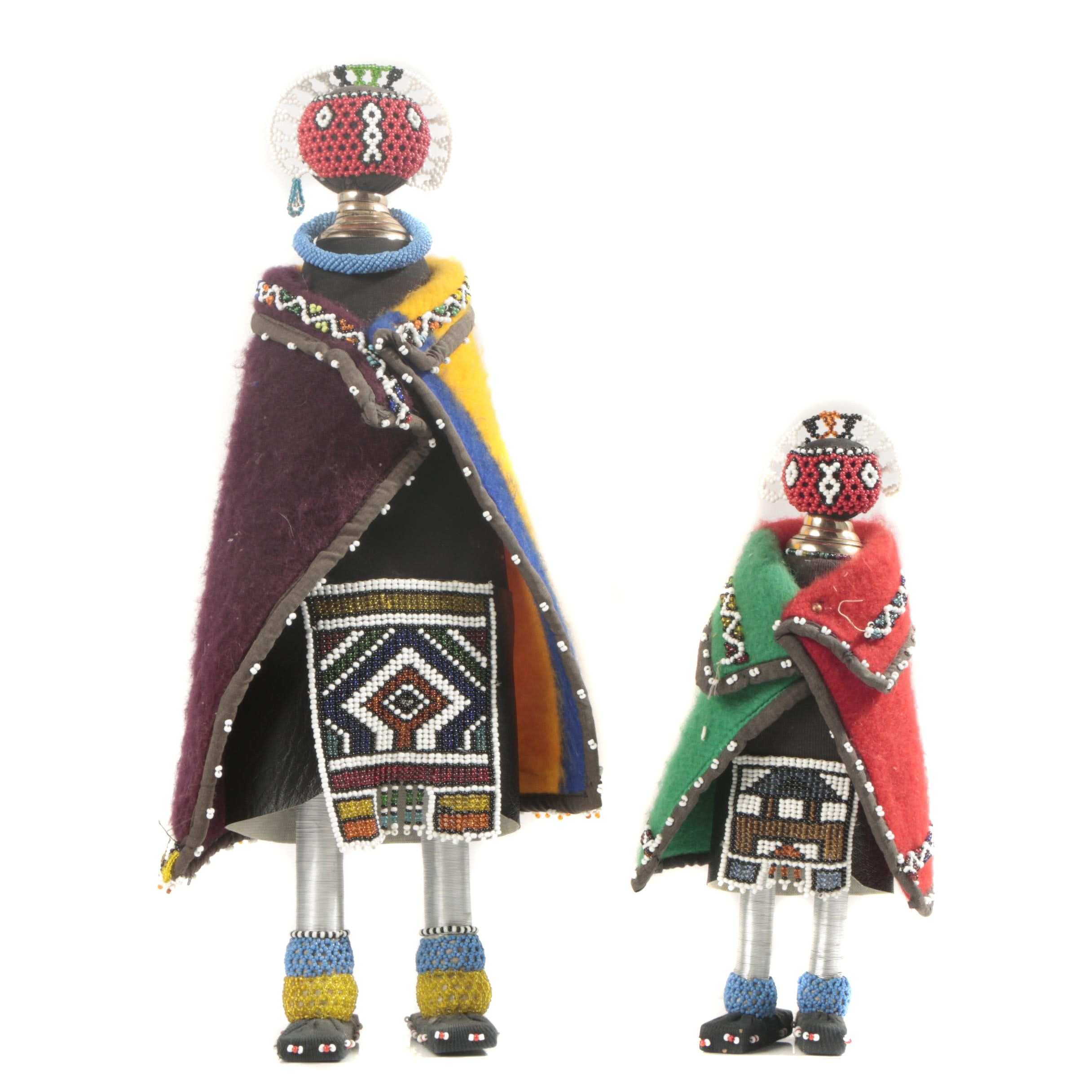 Ndebele Style Beaded Figures From South Africa