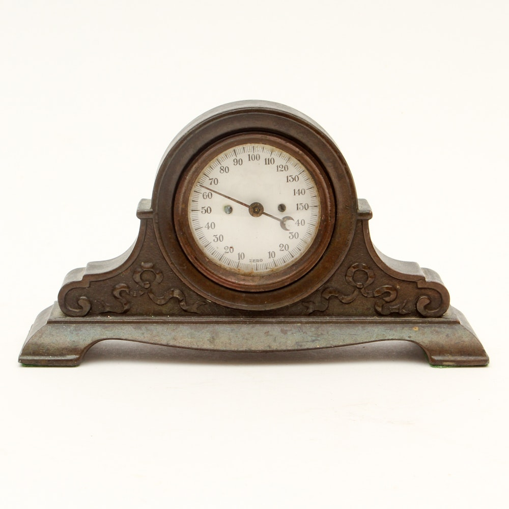 Wood Cased Mantel Thermometer