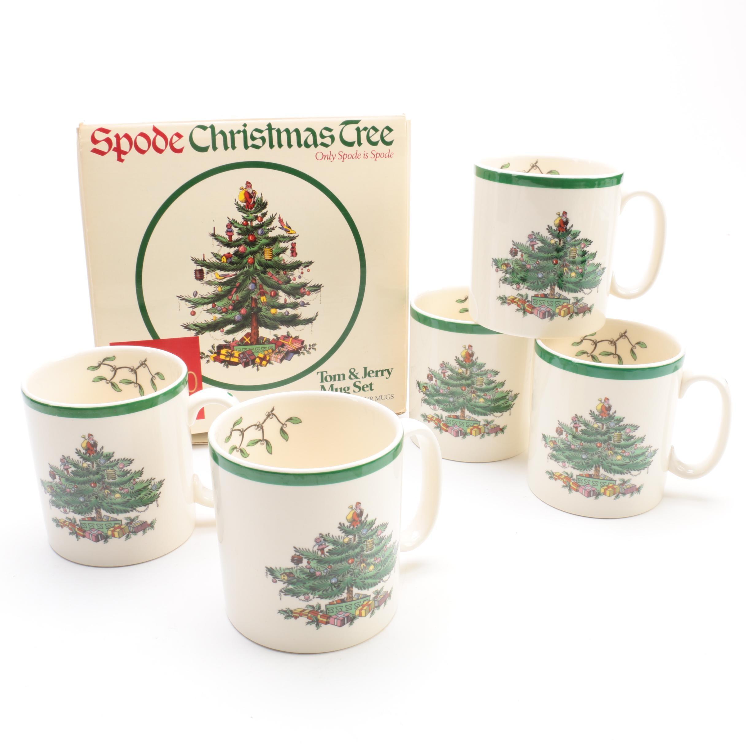 "Spode ""Christmas Tree"" Mugs Made in England"