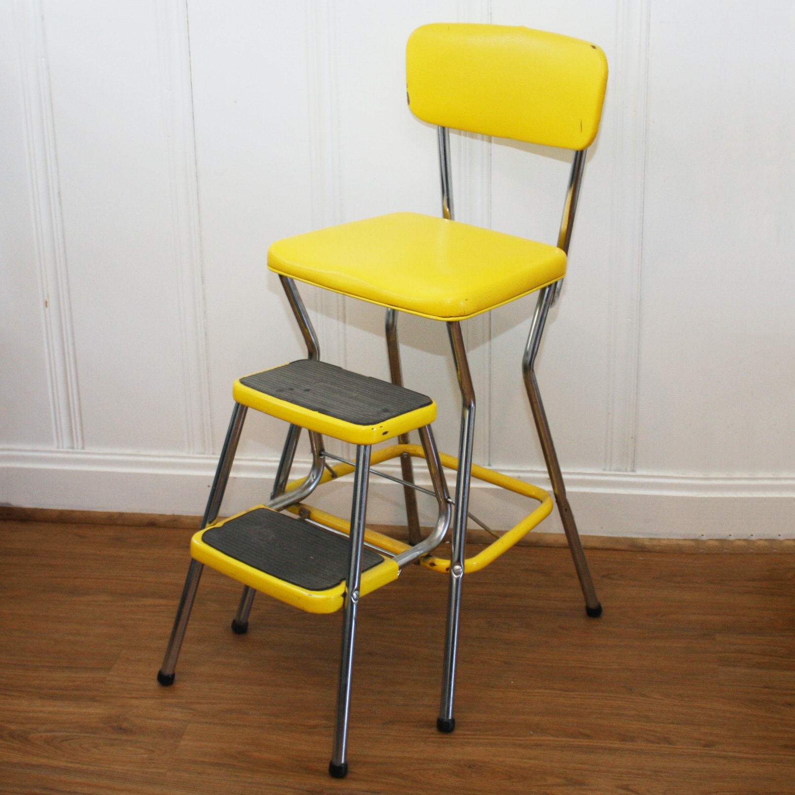 Vintage Chair Step Stool by Cosco