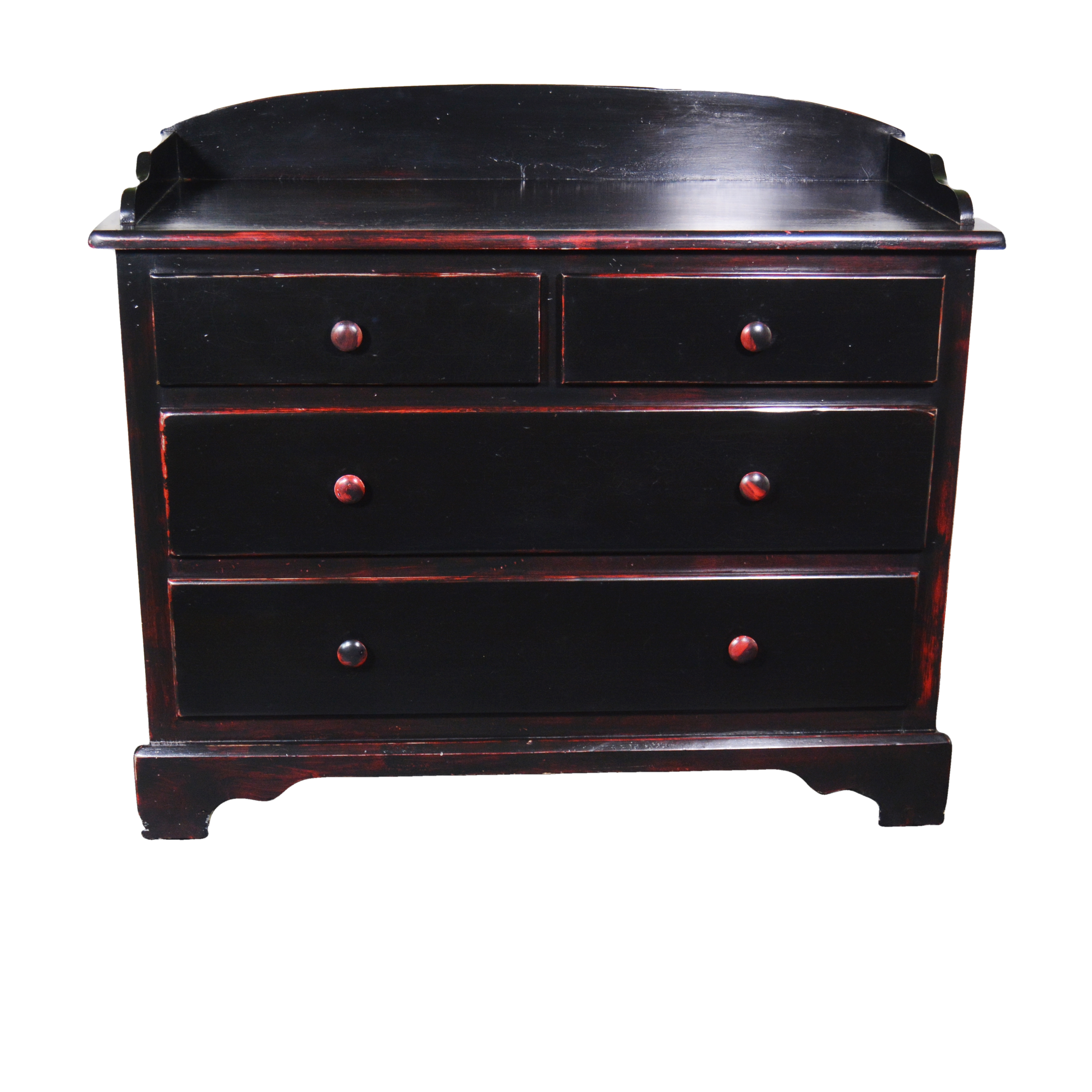 Black And Red Distressed Dresser ...