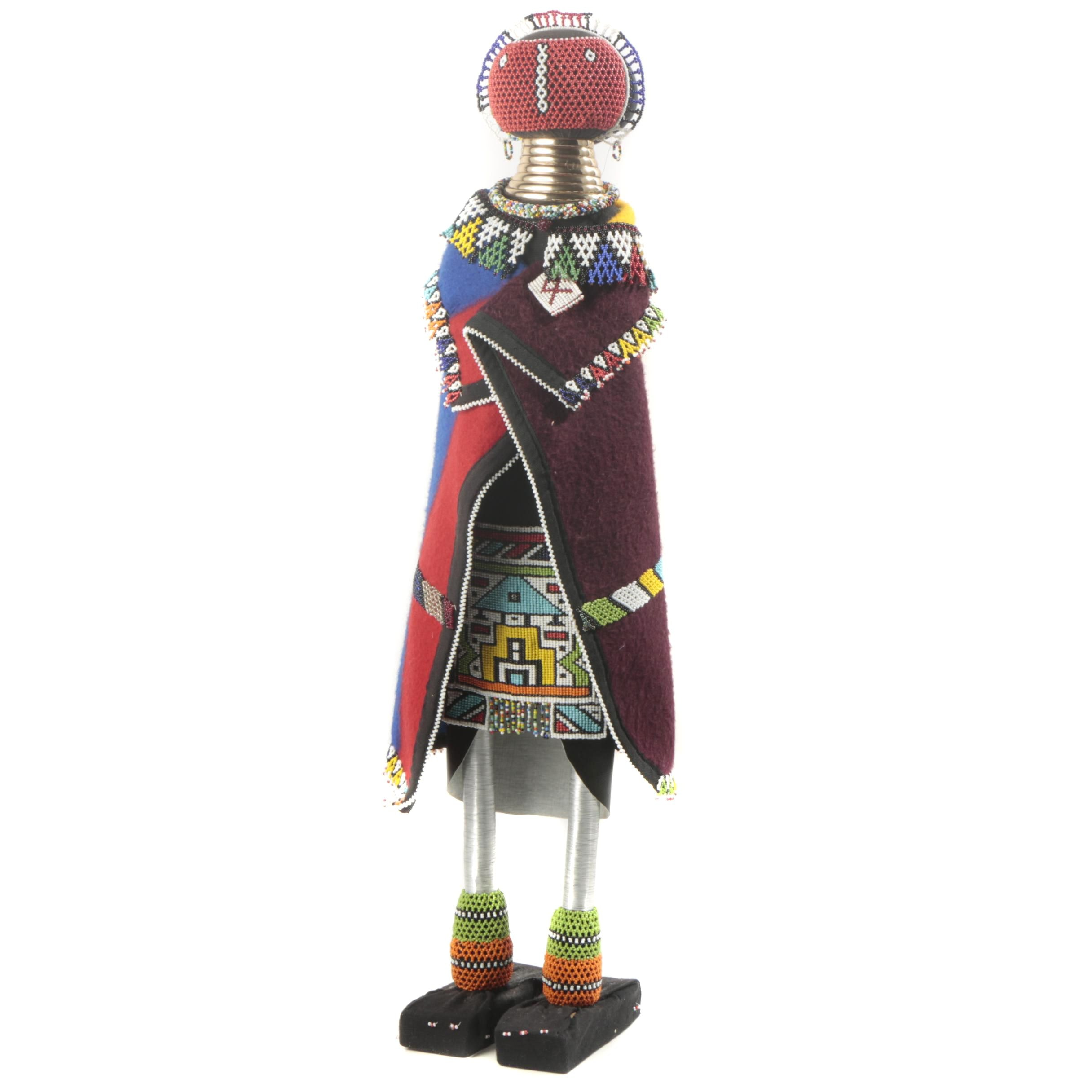Ndebele Style Beaded Figure From South Africa