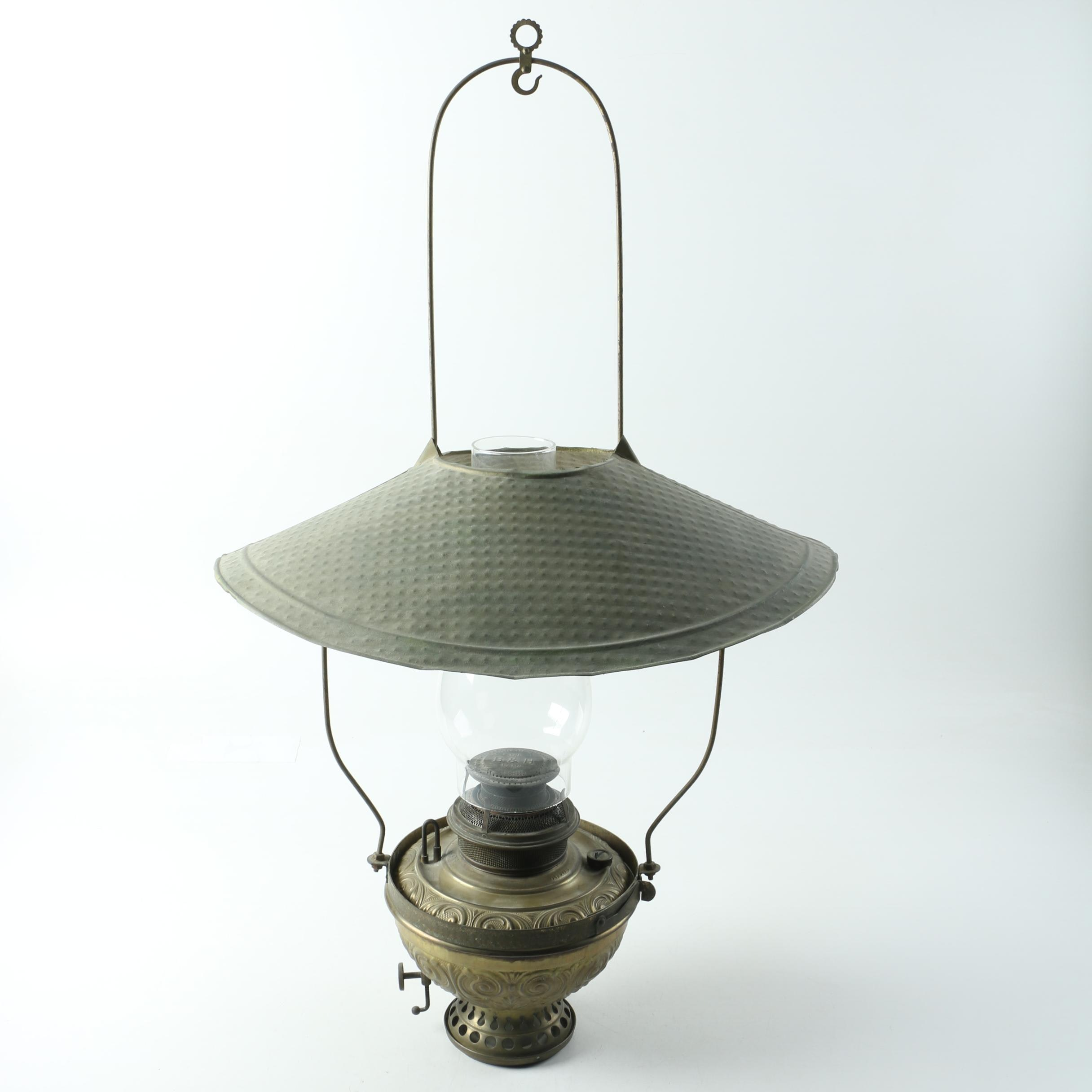 Bradley U0026 Hubbard Antique Brass Oil Lamp ...