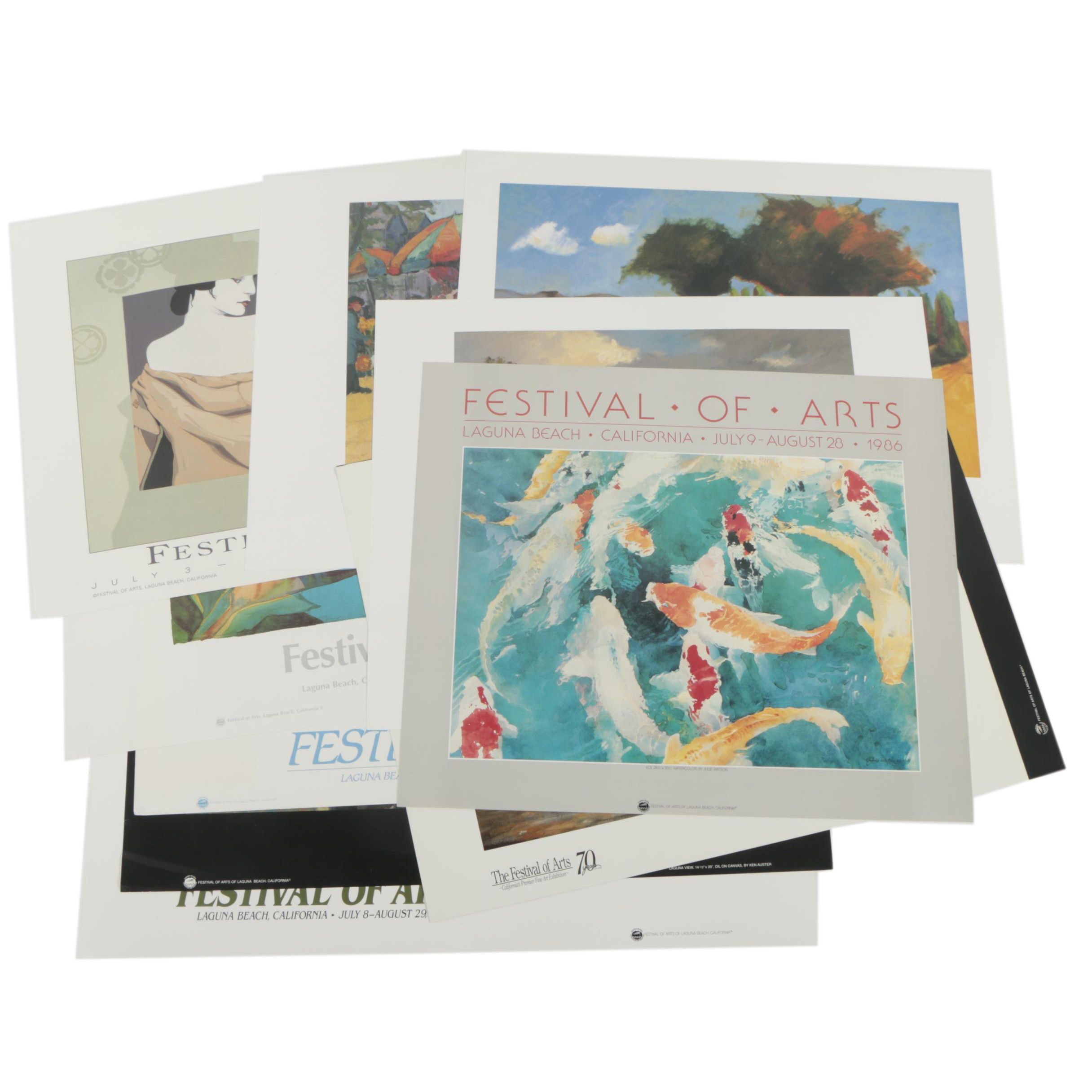Circa 2000 Offset Lithograph Exhibition Posters for Festival of Arts