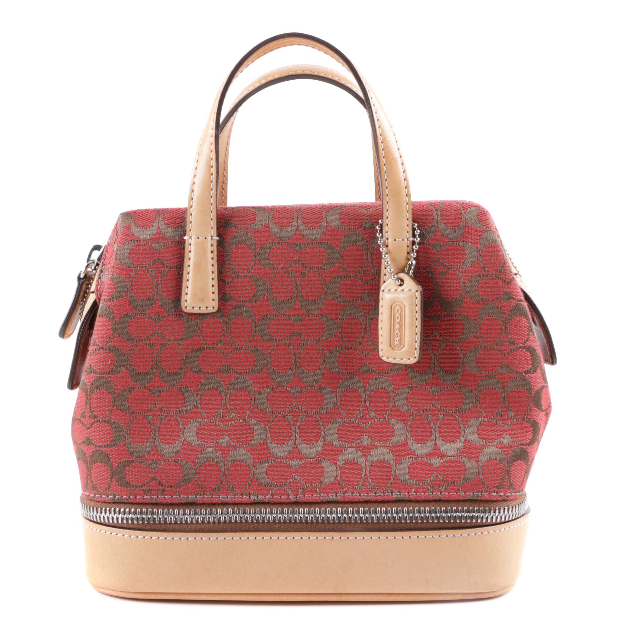 Coach Mini Signature Canvas Handbag