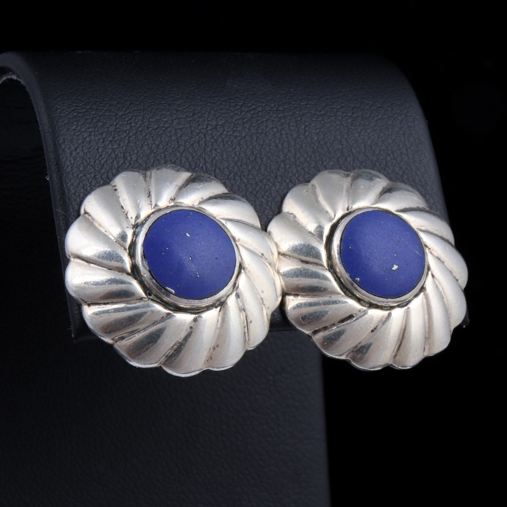 Sterling Silver and Lapis Lazuli Earrings