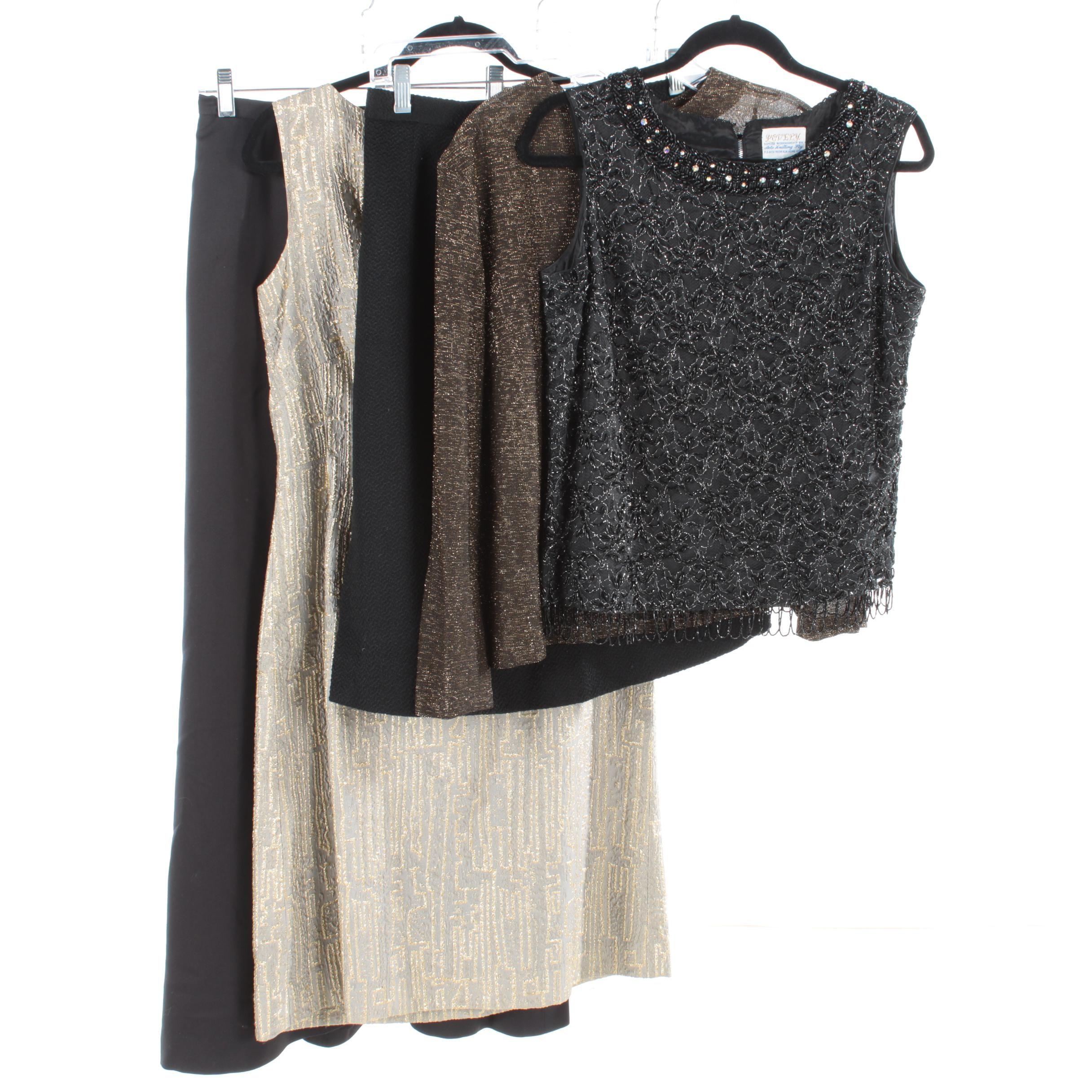 Women's Occasional Wear Including Modell Metallic Sheath Dress