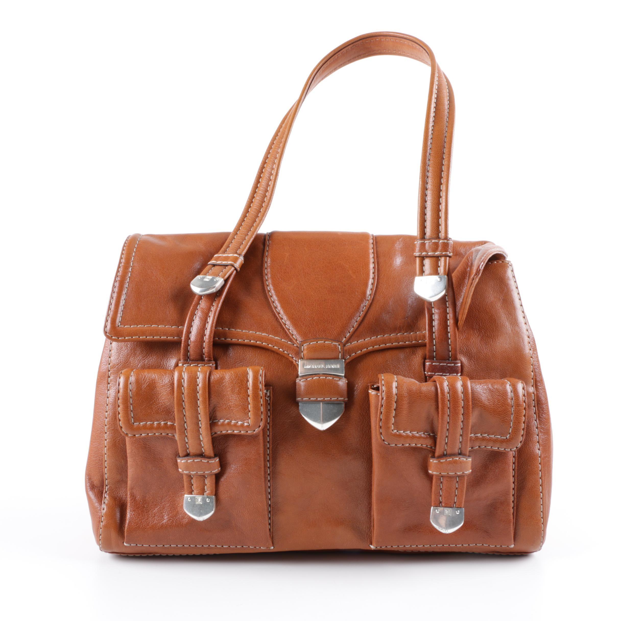 MICHAEL Michael Kors Brown Leather Satchel