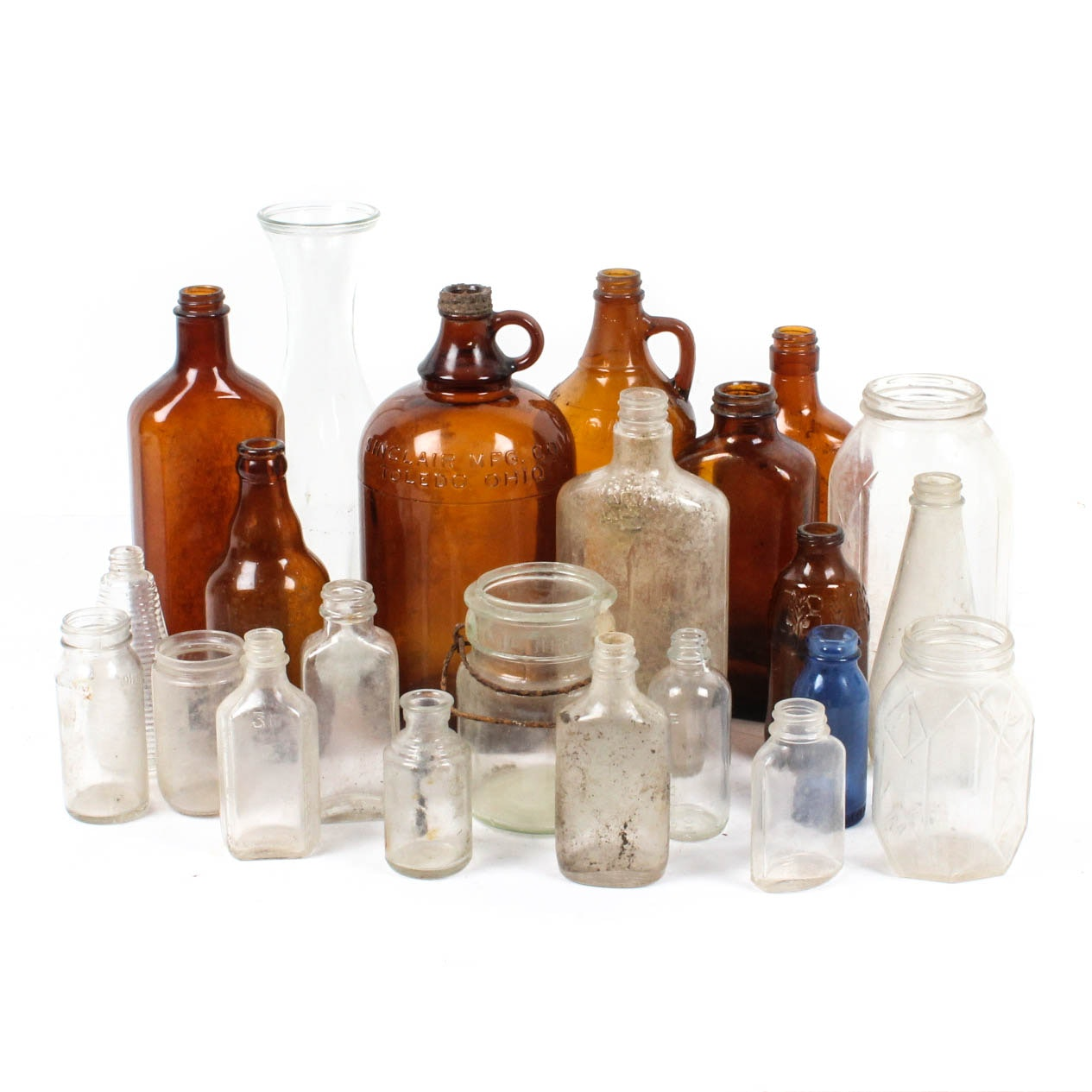 Twenty-Four Vintage and Antique Apothecary Bottles