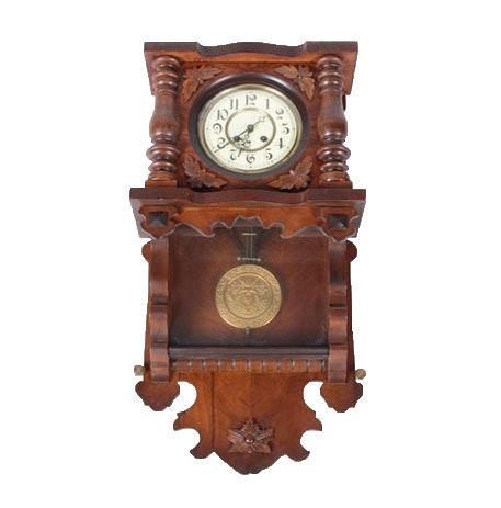 Vintage Carved Wood Wall Clock