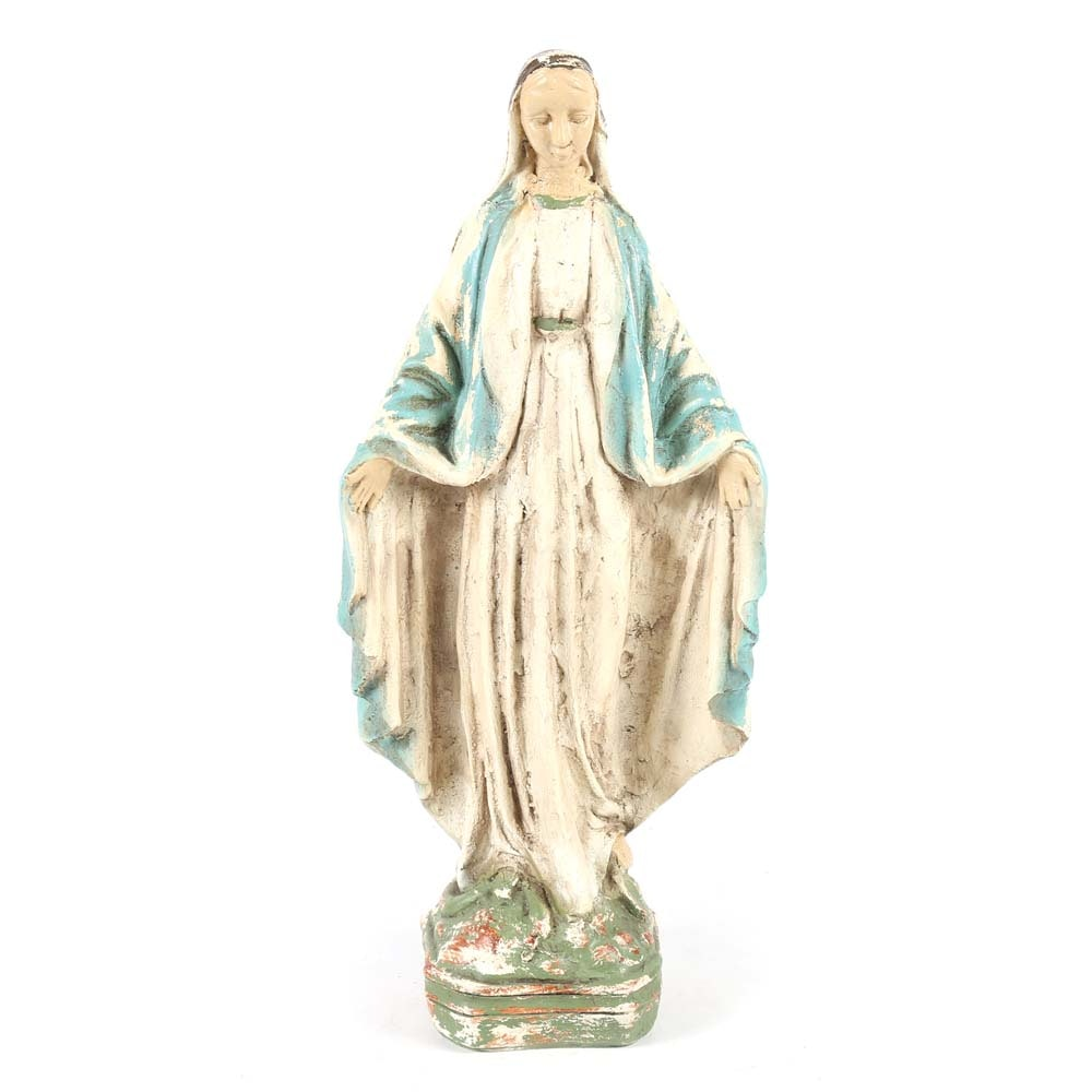 Distressed Statue of Mary