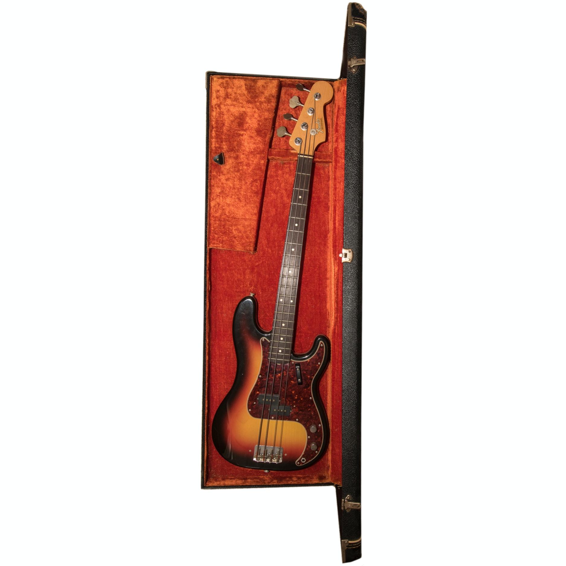 1966 Fender Precision Bass Guitar with Sunburst Finish