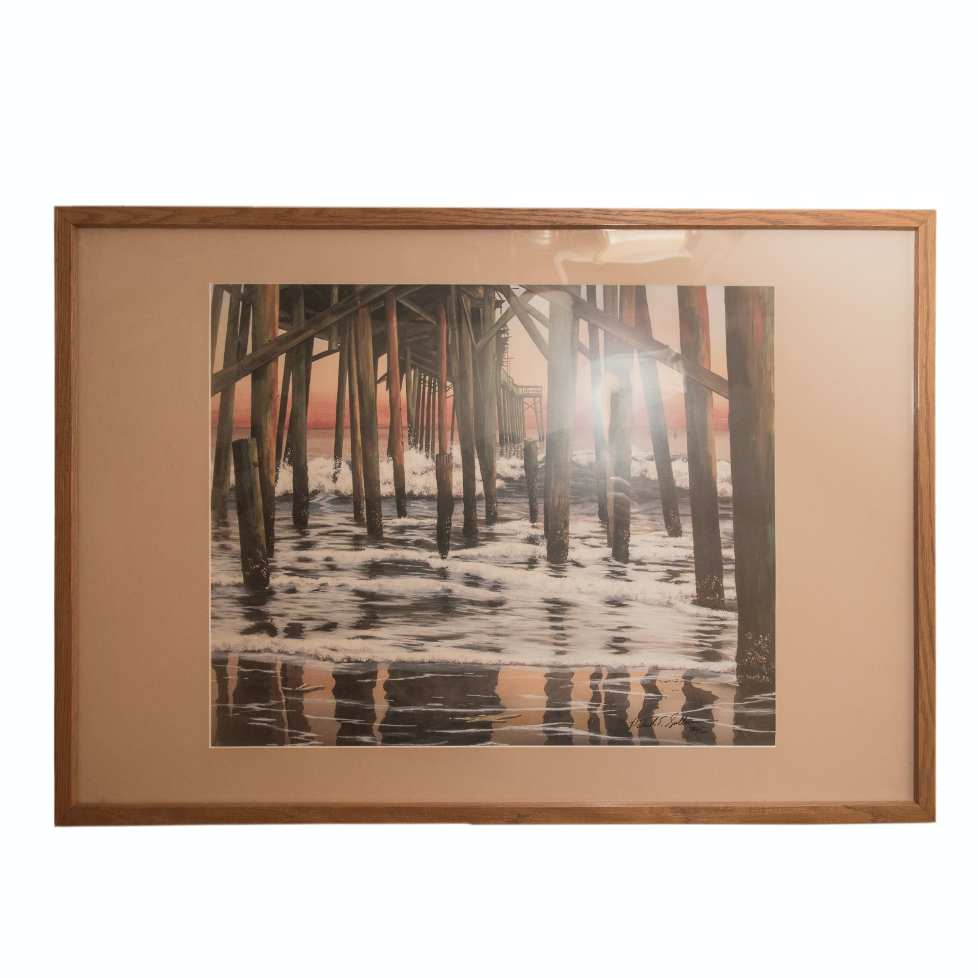 "Patrick E. Sullivan Limited Edition Offset Lithograph ""Daylight Pier"""