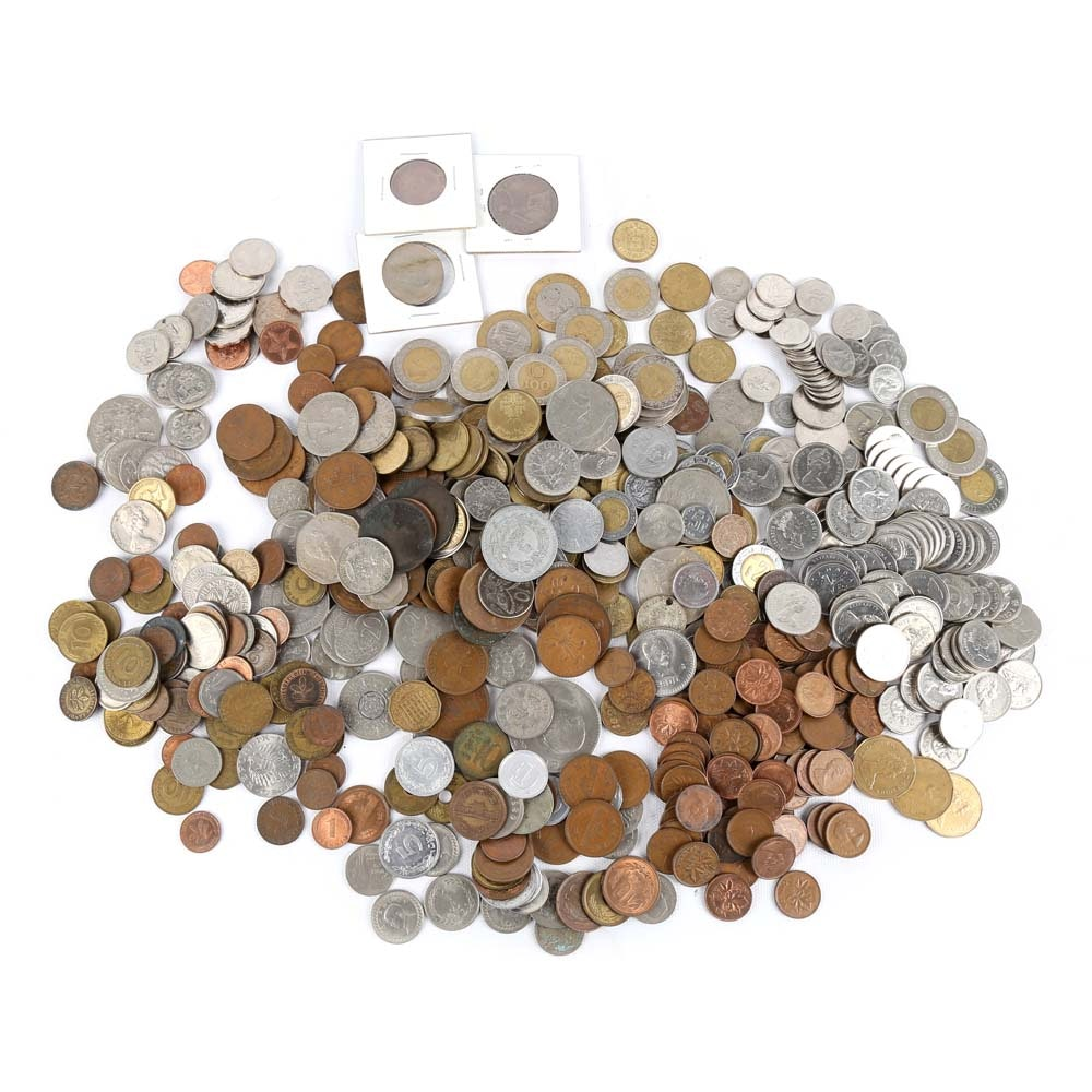 Large Collection of Foreign Coins
