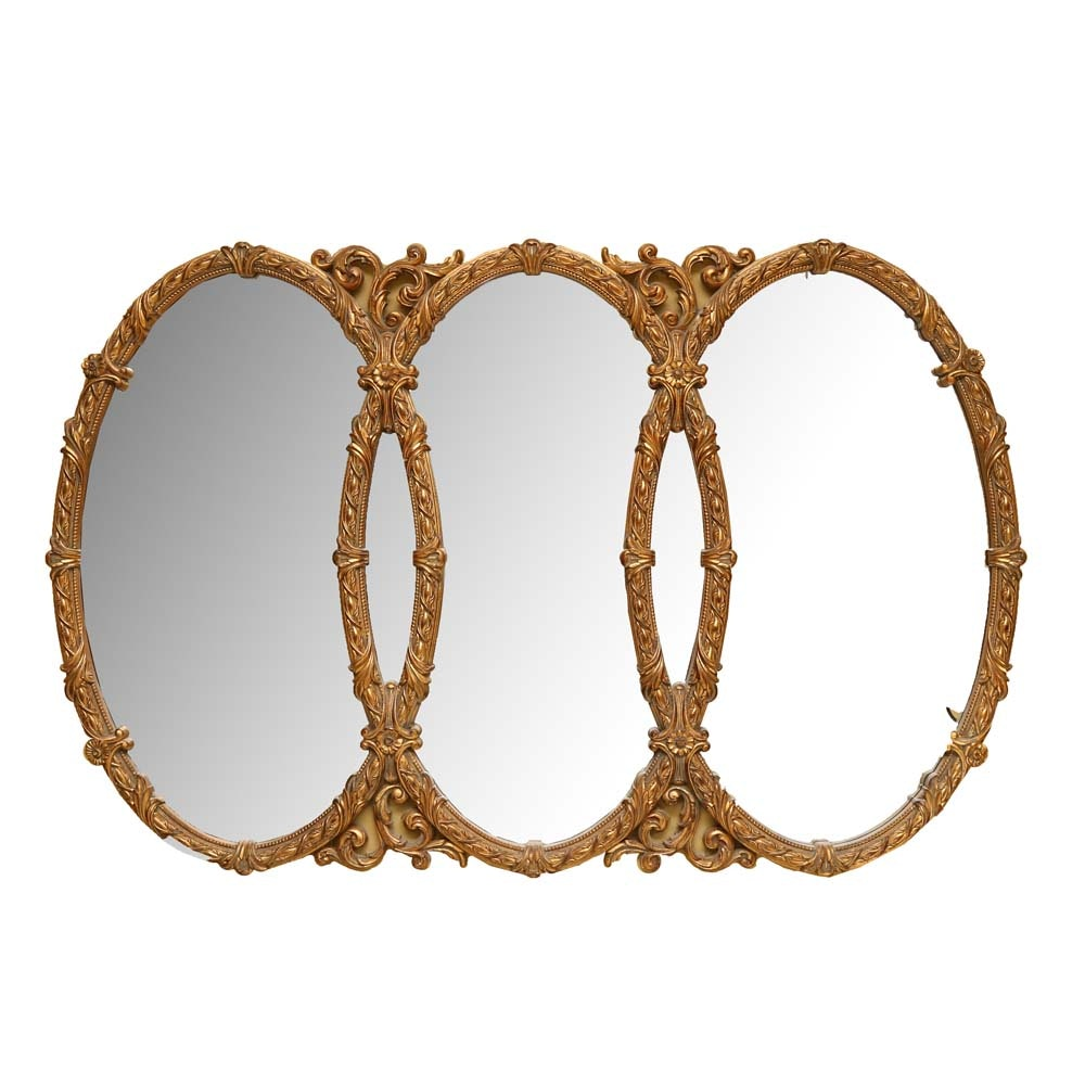 Large French Empire Inspired Wall Mirror