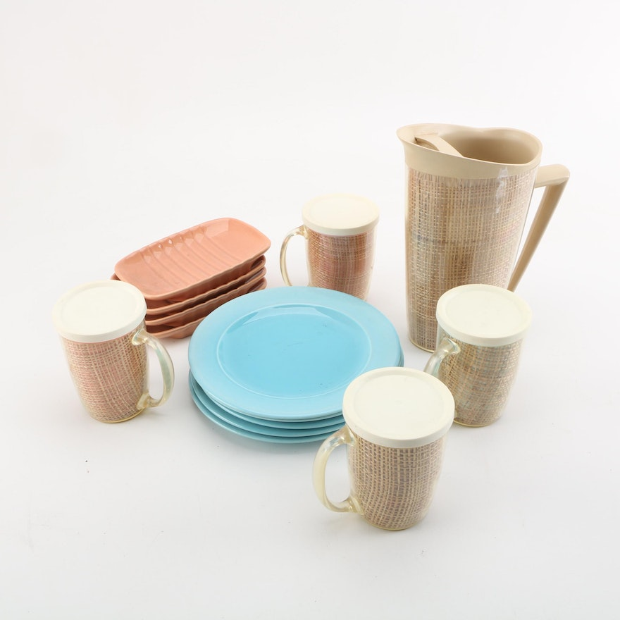 Pastel Kitchen Accessories Including Franciscan \