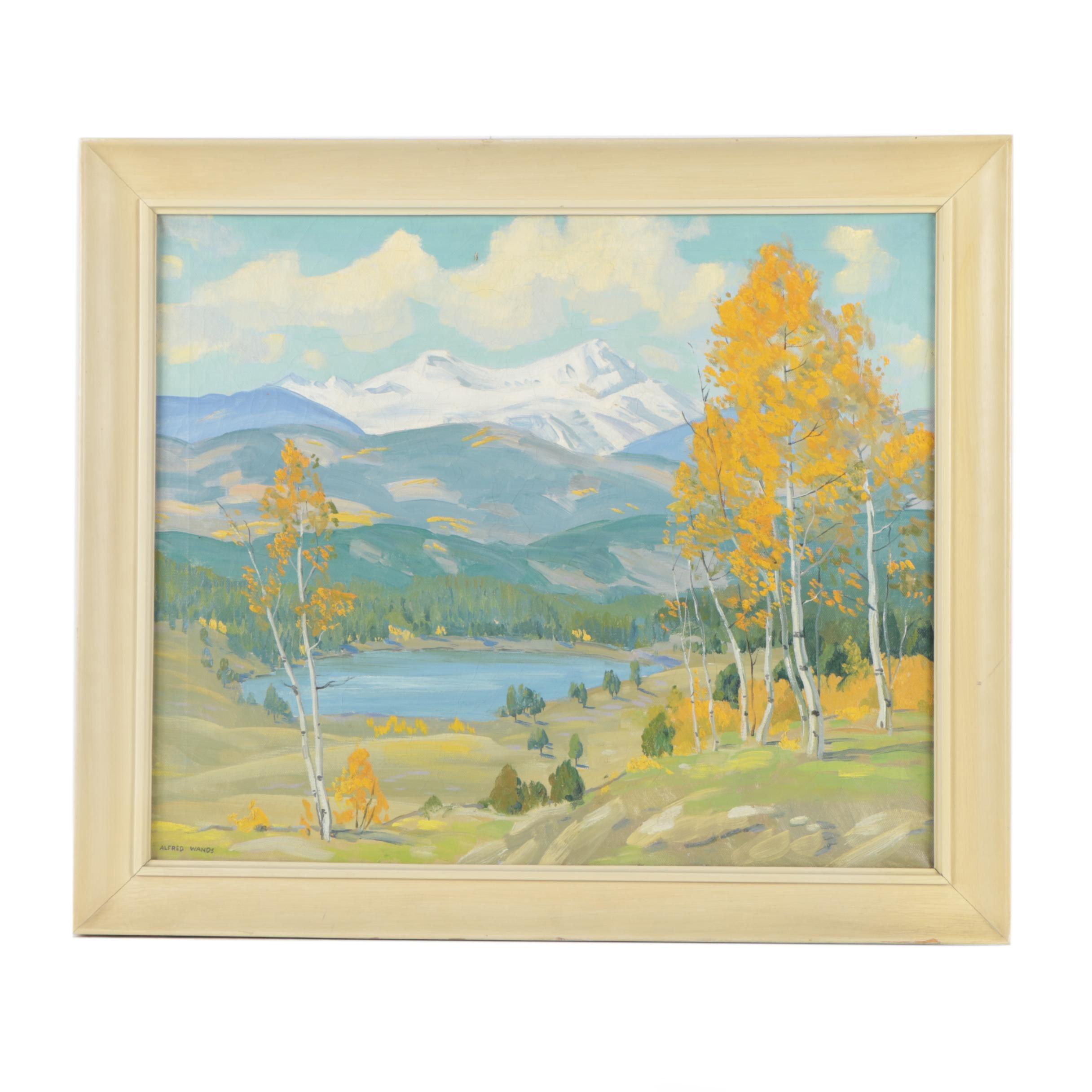 """Alfred Wands Oil Painting """"Torreys Peak - Colorado"""""""