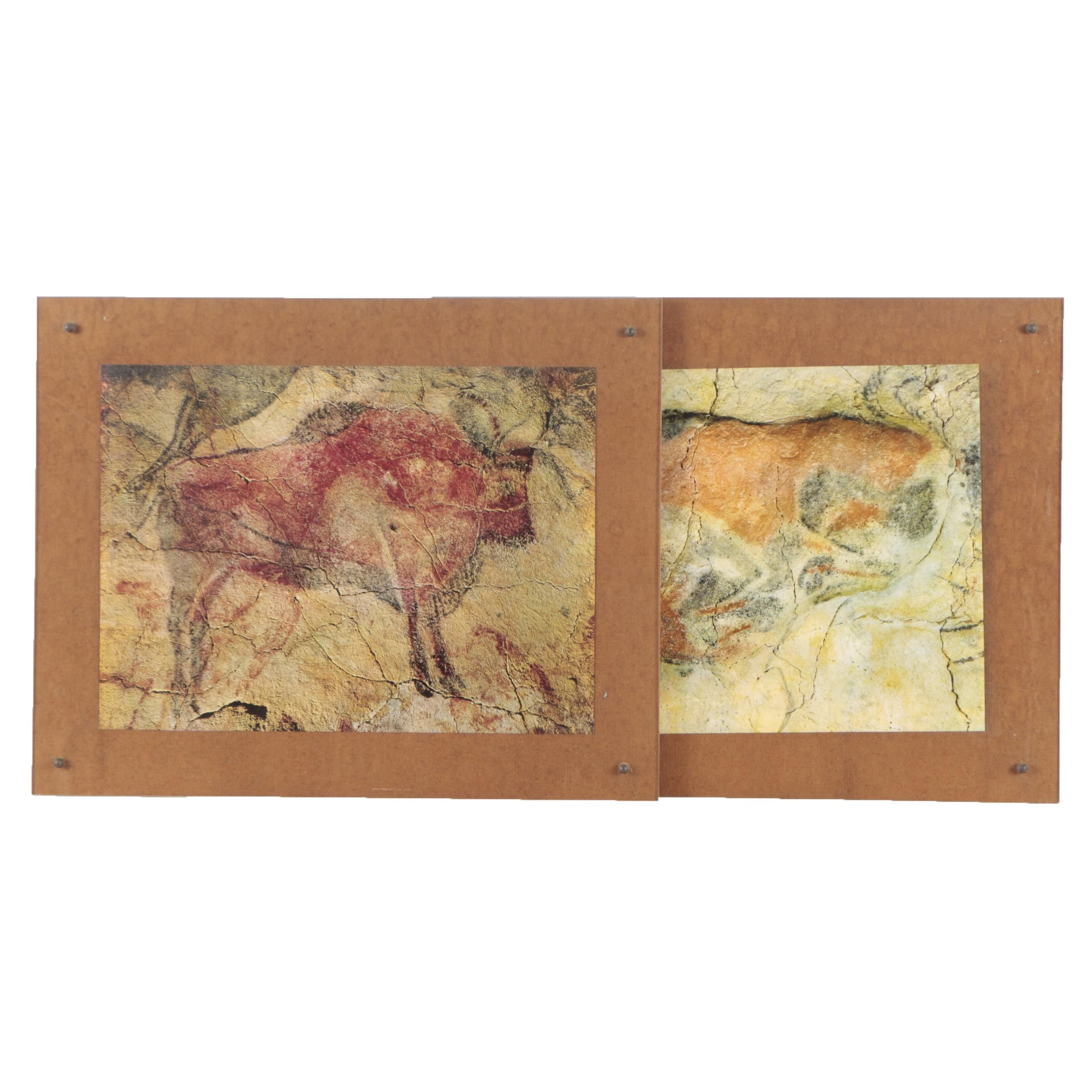 Offset Lithographic Prints of Paleolithic Cave Paintings