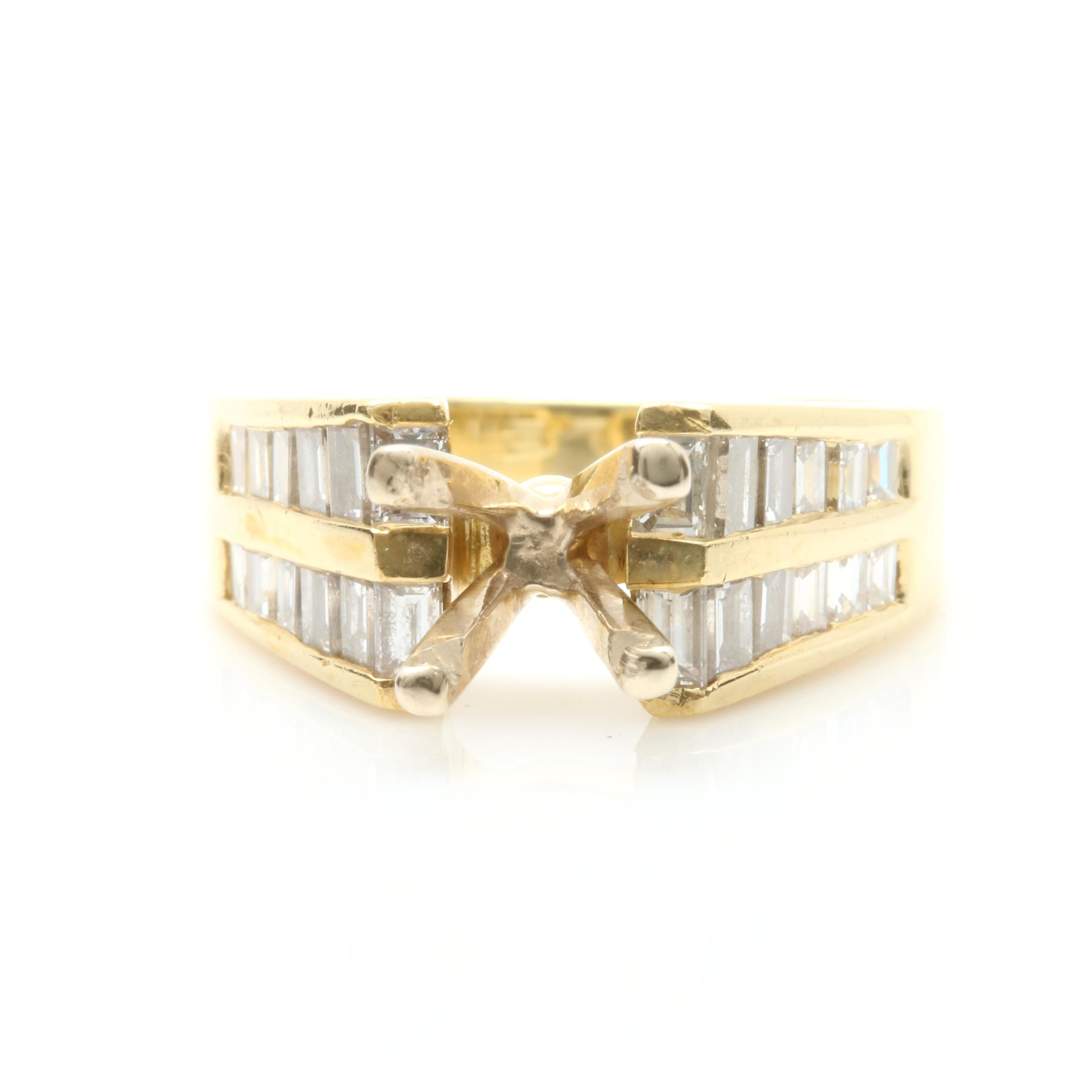 18K Yellow Gold 1.68 CTW Diamond Semi-Mount Ring