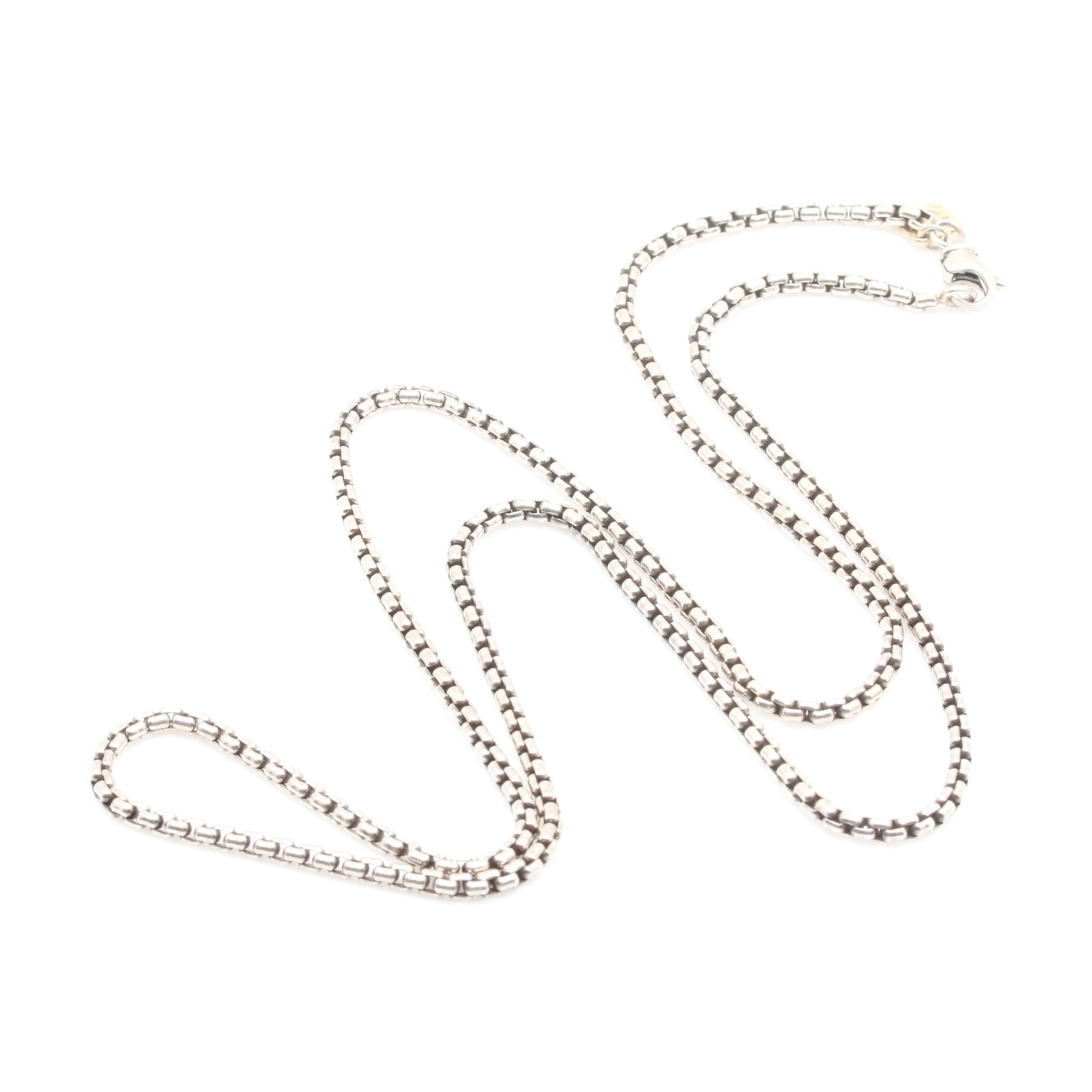 David Yurman Sterling Silver Necklace