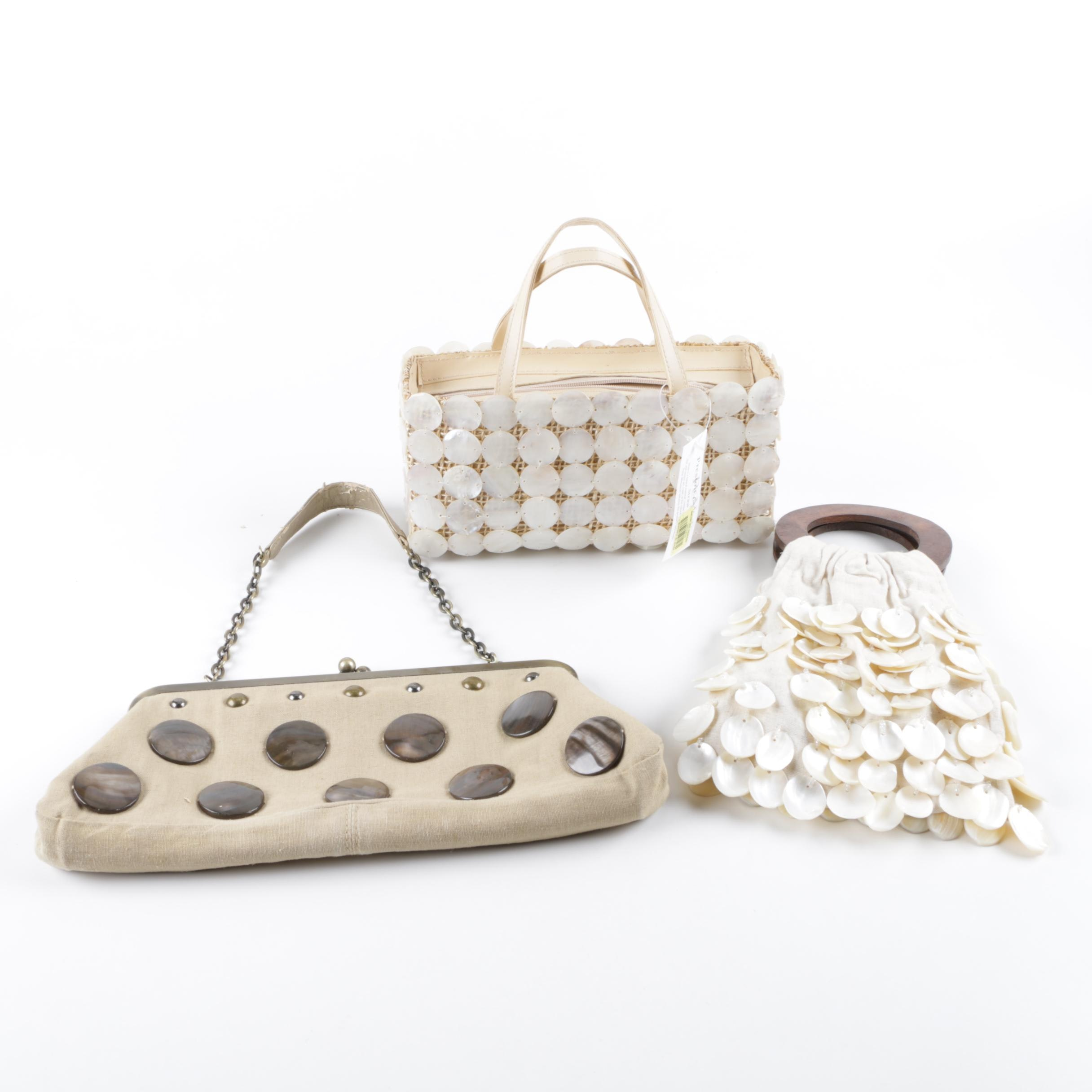 Women's Handbags Featuring Shell Accents