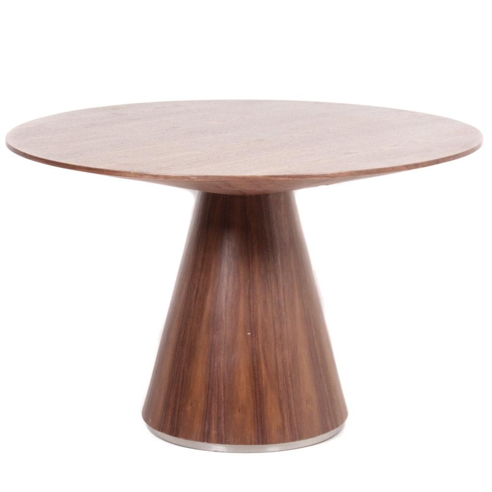Mid Century Modern Style Wood Veneer Dining Table