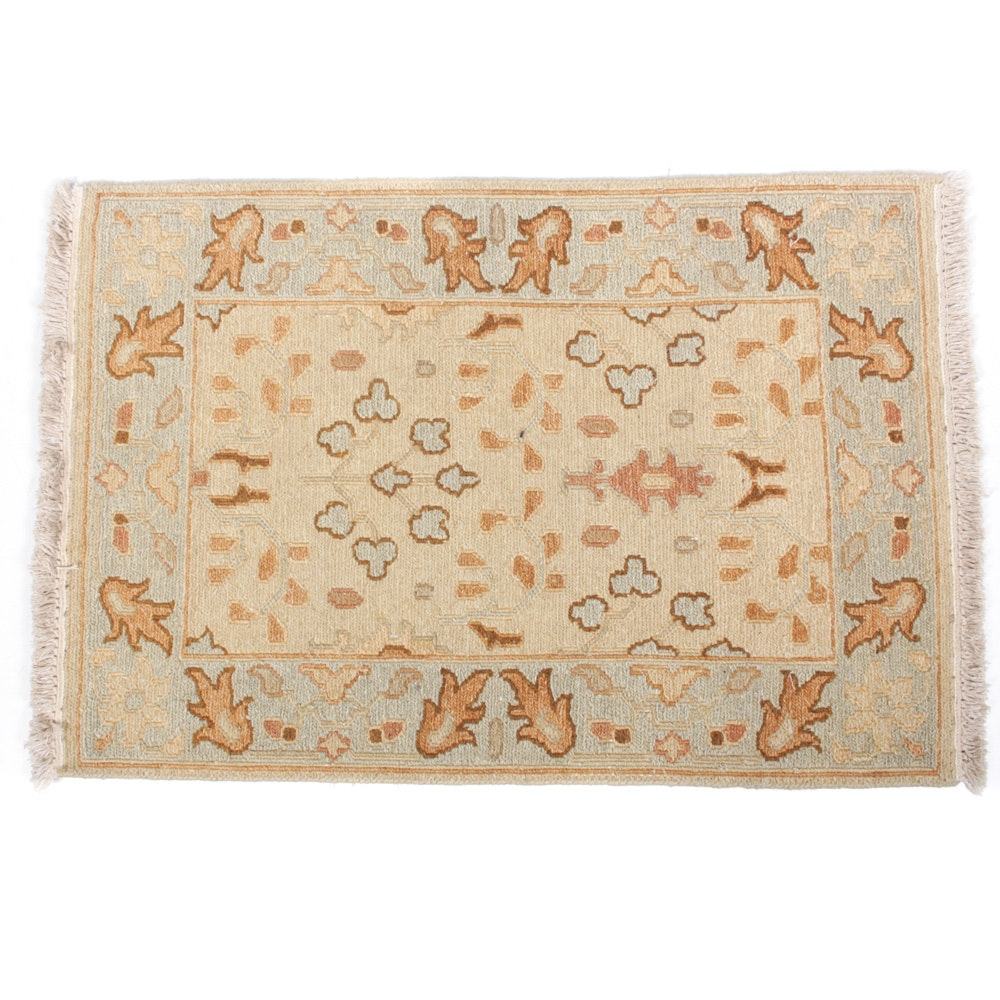 Hand-Knotted Turkish Soumak Rug