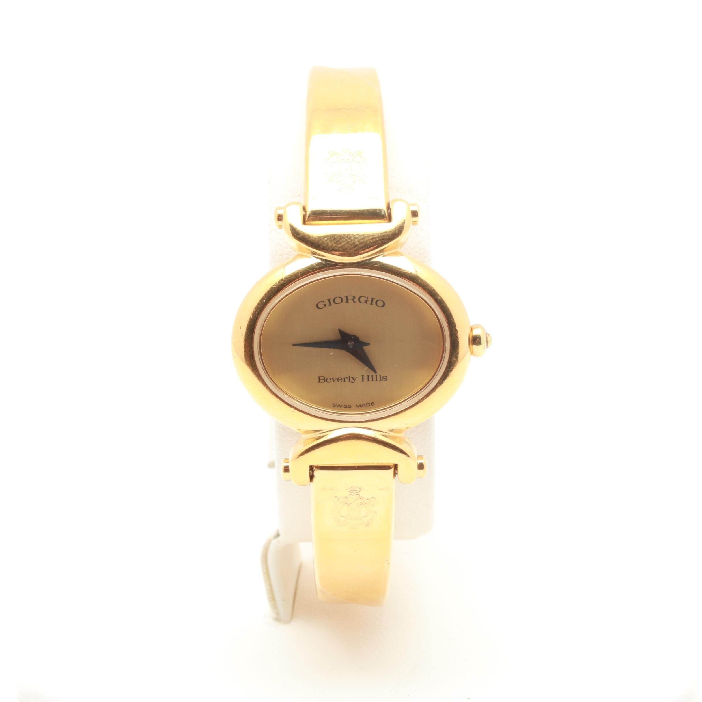 Giorgio Beverly Hills Gold Tone Wristwatch