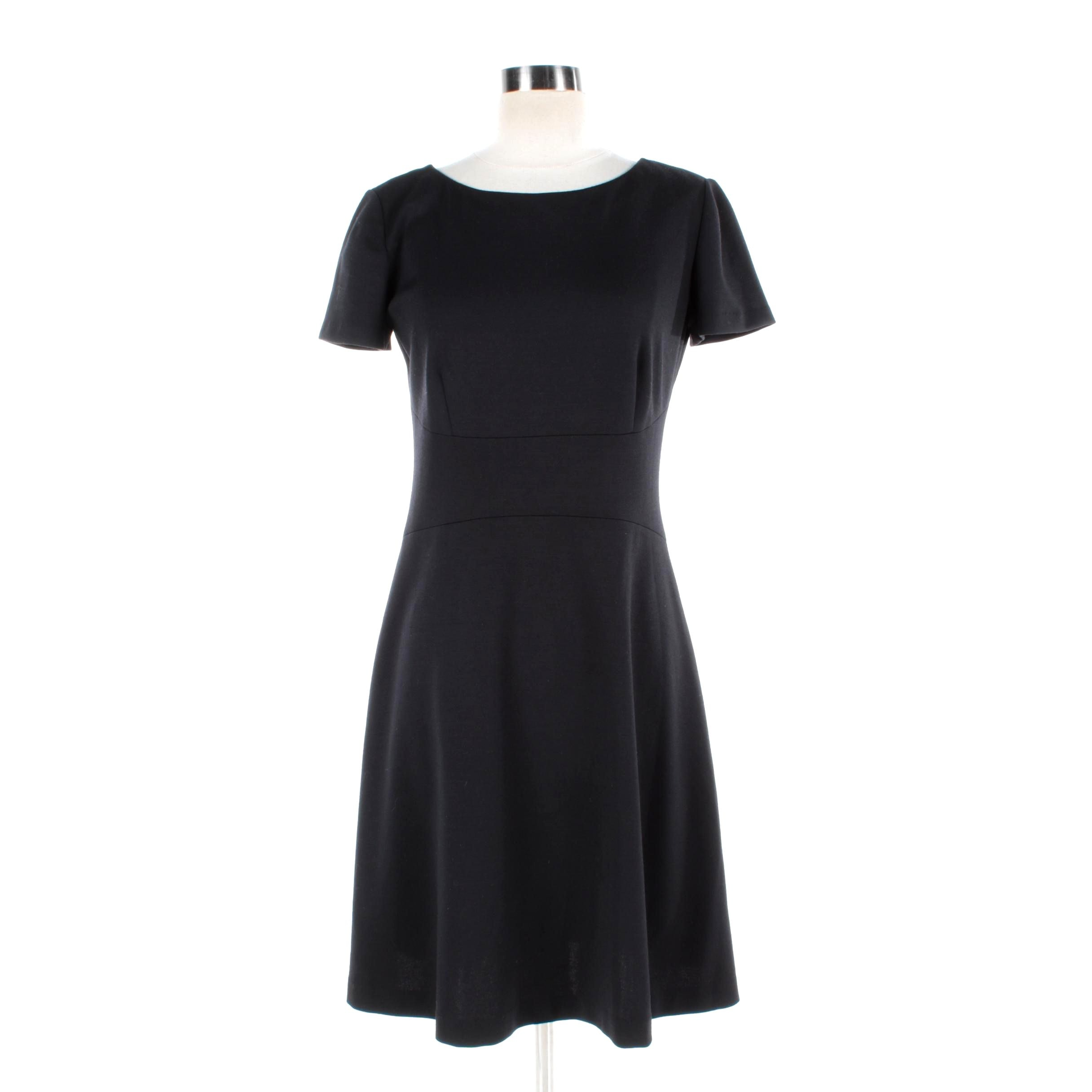 Prada Black Knit Short Sleeve Dress