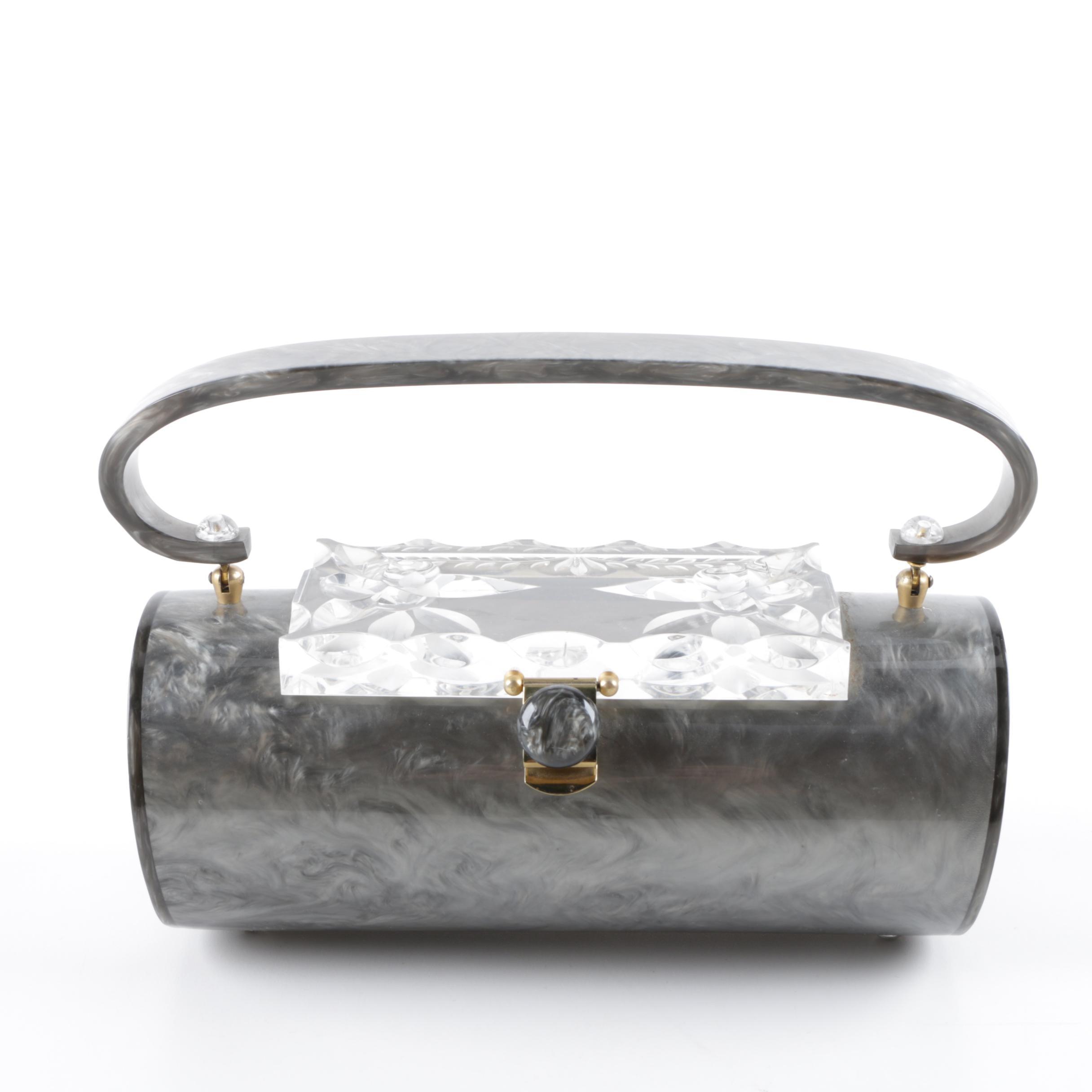 Vintage Lucite Top Handle Handbag