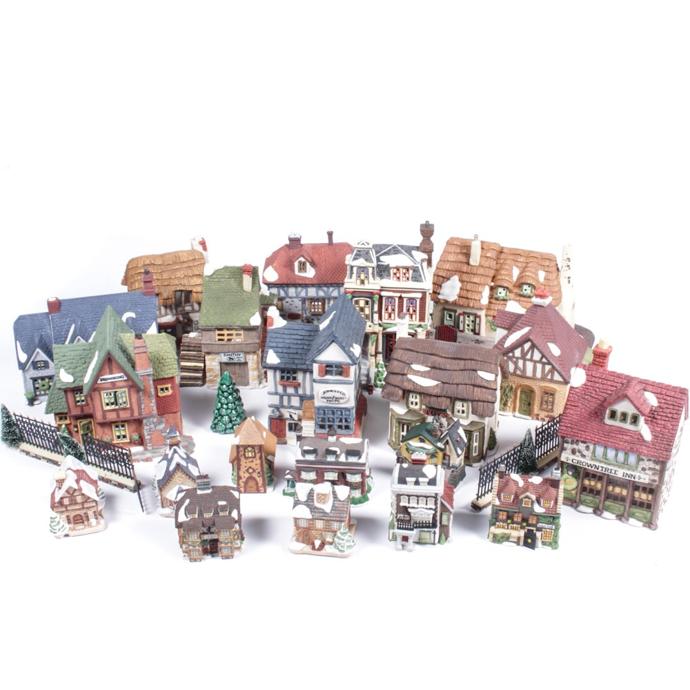 Dickens' Village Porcelain Building Figurines and Ornaments