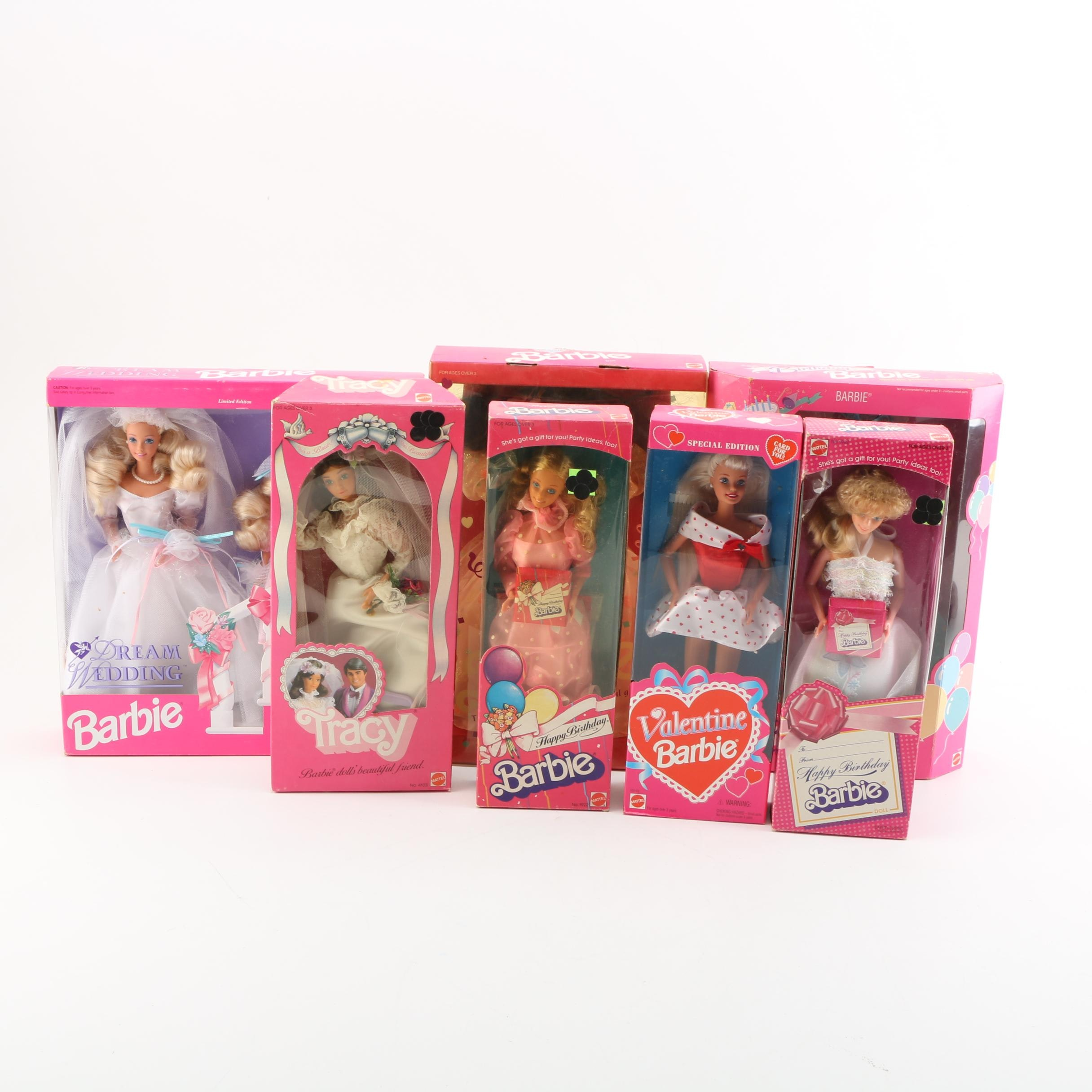 """Barbie Doll Collection Including """"Special Edition Valentine Barbie"""""""